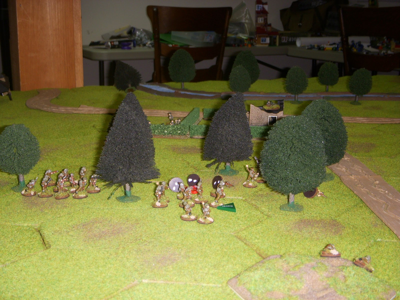 2nd Platoon ran into heavy fire by the second objective, but overcame the enemy with a combination of fire and manoeuvre.