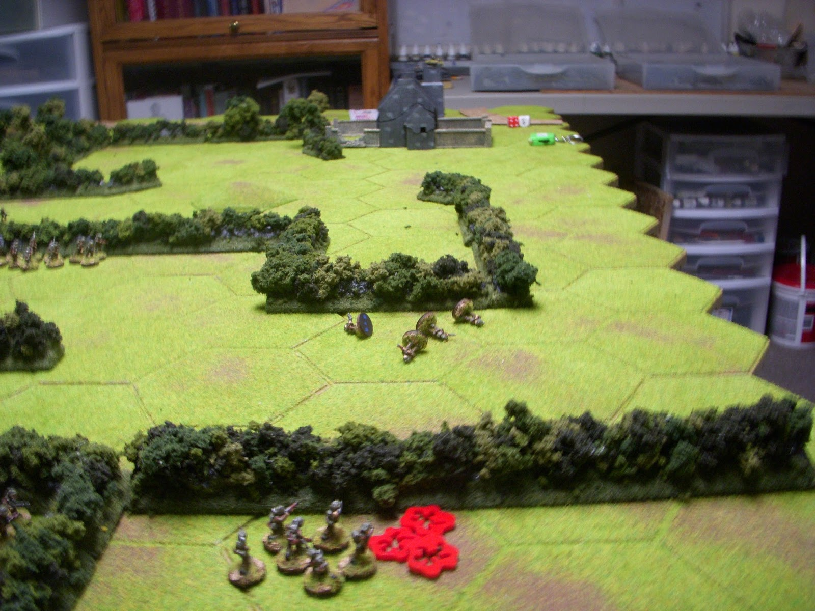 While 3rd platoon runs into more trouble, losing four men when they try to storm the next hedgerow