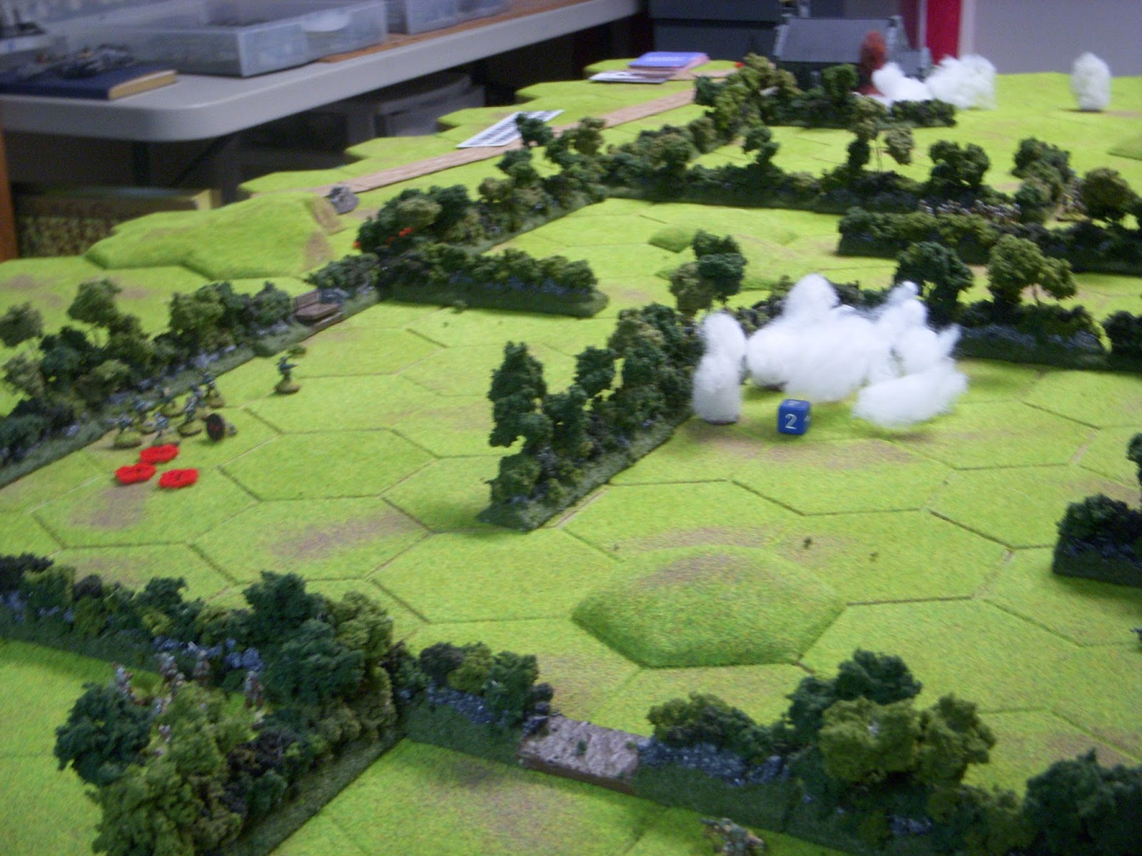 1st platoon aggressively attacks on the left, unhinging the German line