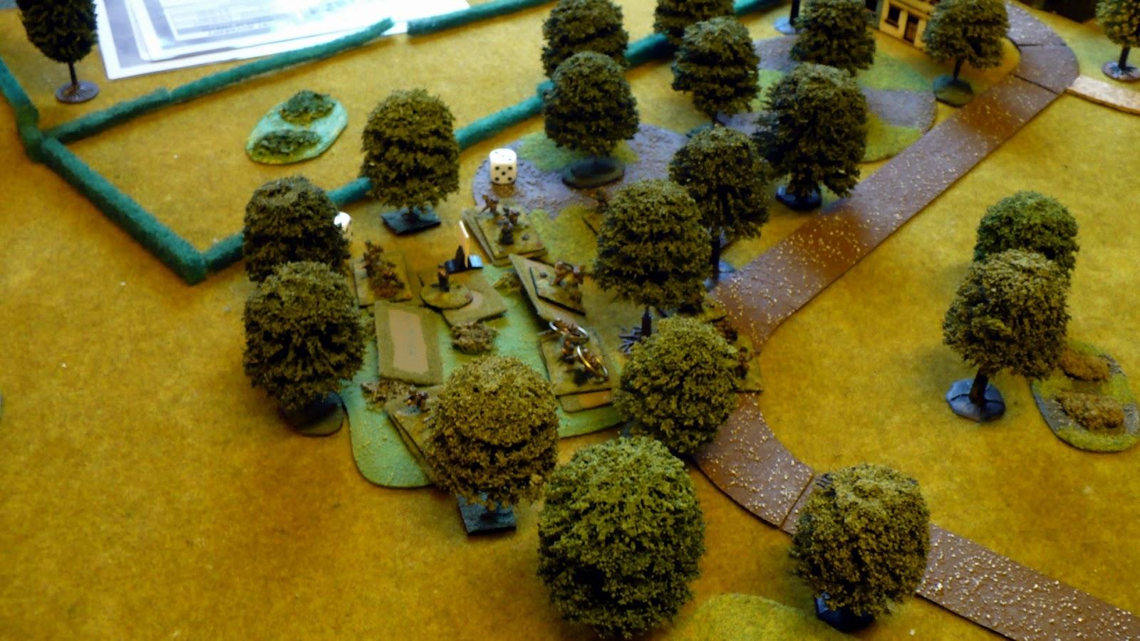 German Platoon deploys (note in depth as per Blinds)