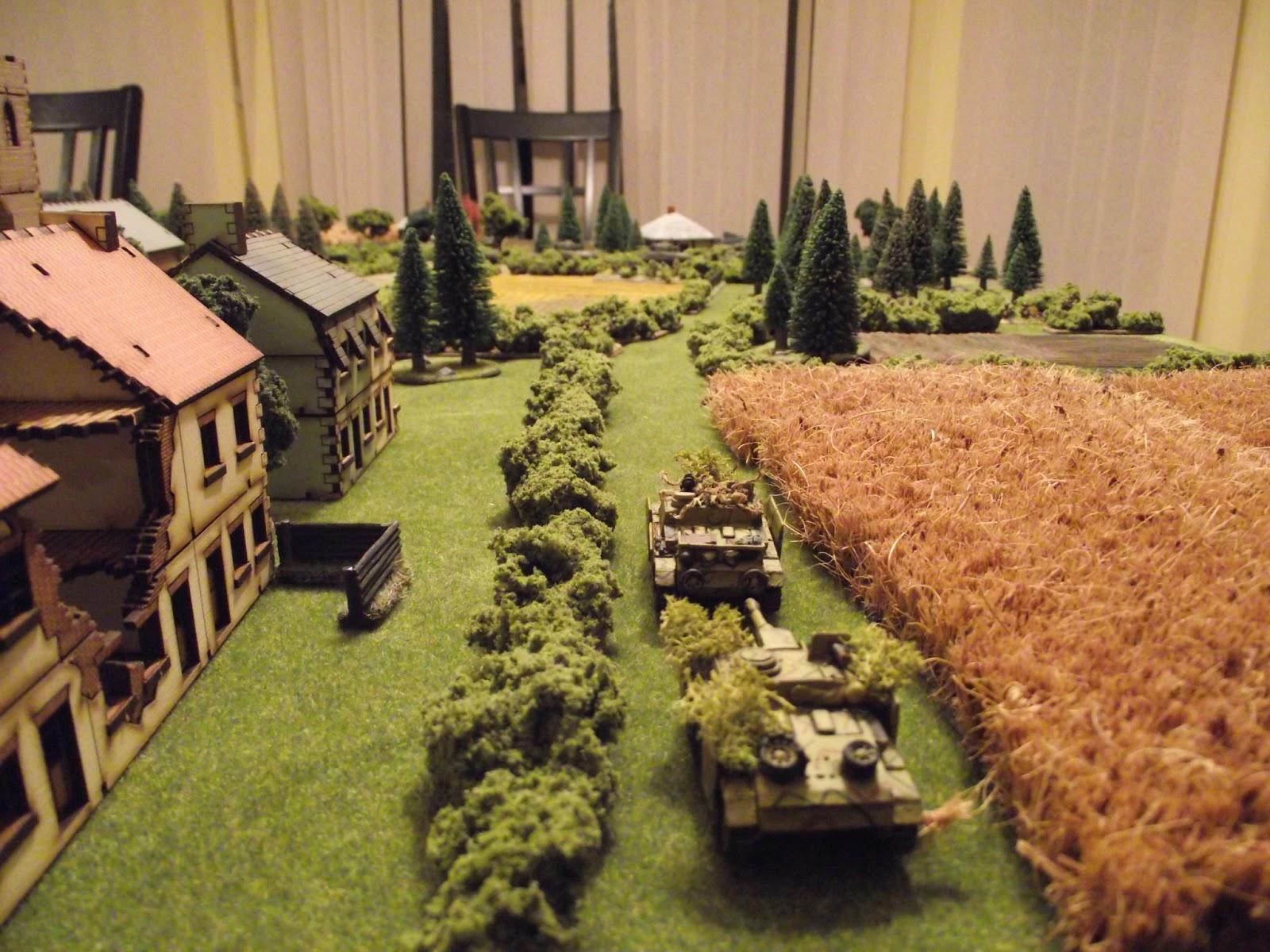 Turn 2: German reinforcements arrive in the form of two StuGs.