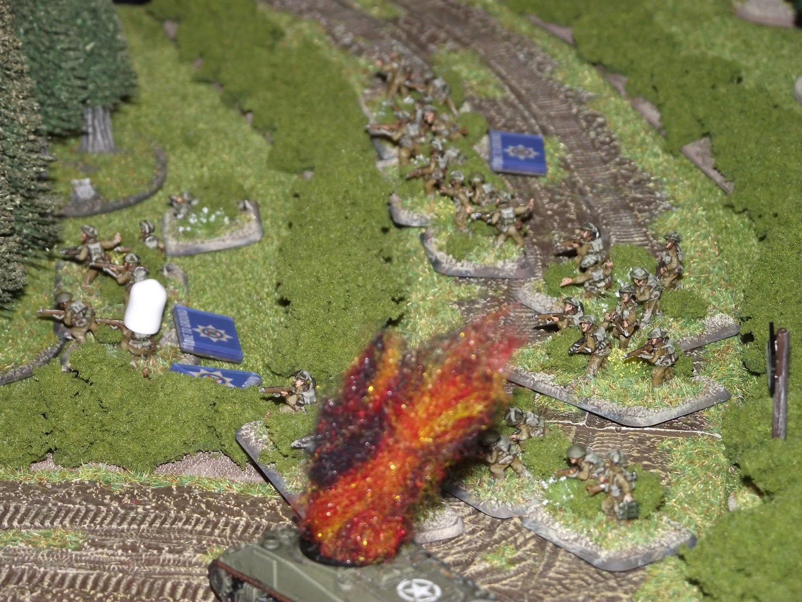 British start taking some major fire from the churchyard and the town
