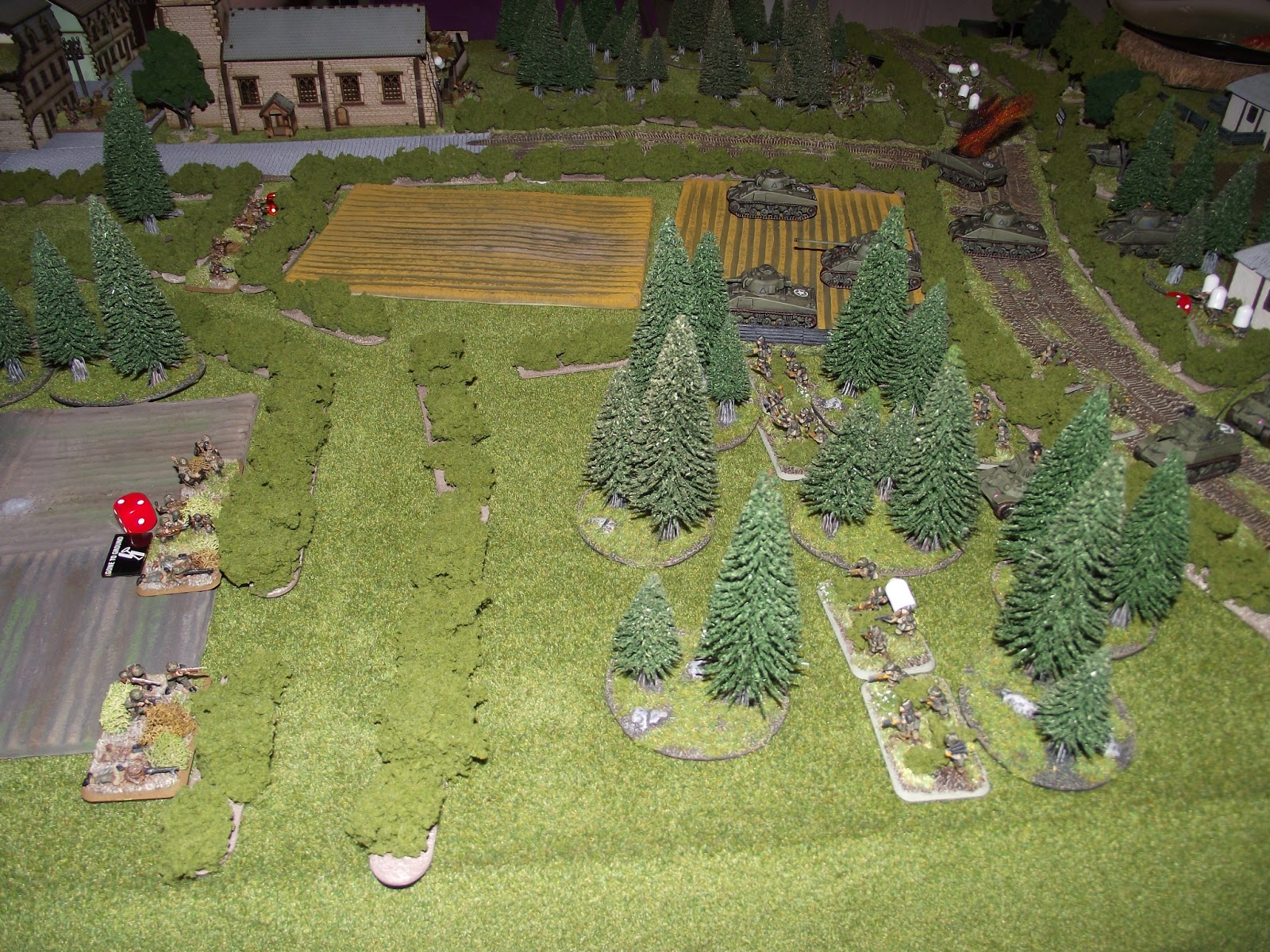 Onthe other flank, but Germans are looking a bit thin.... not going well here, as the British keep moving up.
