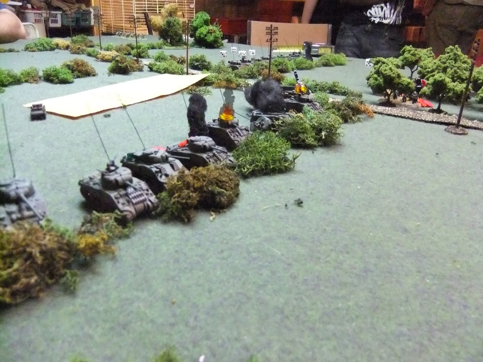 The Squadron CO's tank was the first to go in a catastrophic fireball, killing the Old Man.