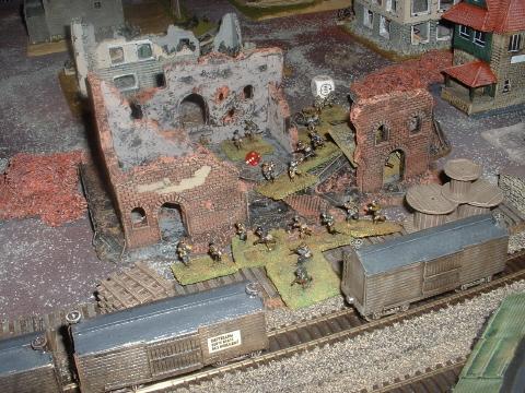 Jez's Soviet Railwaymen's Militia defend the Station buildings