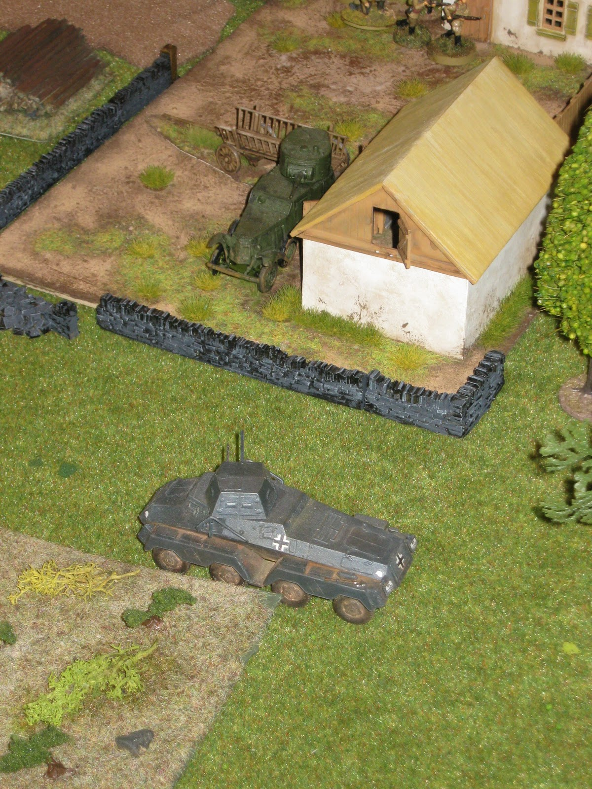 The heavy armored car continues, until…