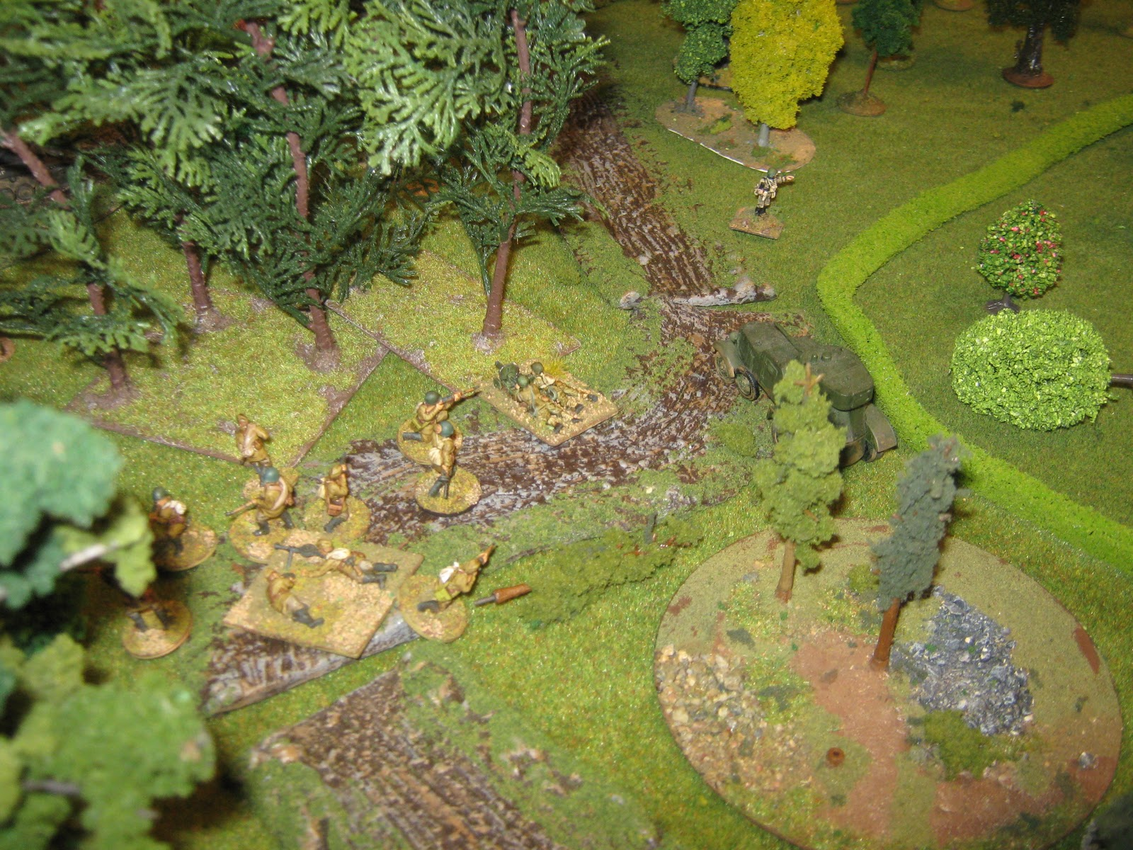 Russian counter-attack on the right flank