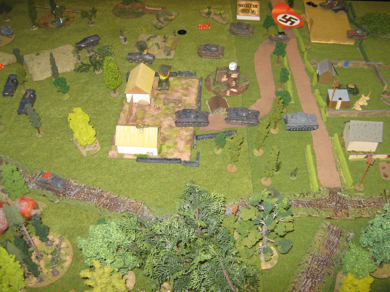Breakthrough on the left flank, supported by Pz IV:s. The Russians retreat.