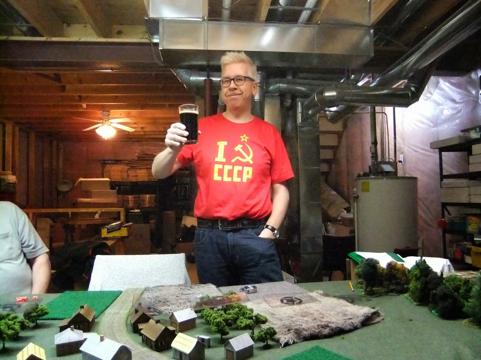 Mike toasts his heroic Soviet hordes with some Russian Gun Imperial Stout, which actually sounds rather counter-revolutionary come to think of it...