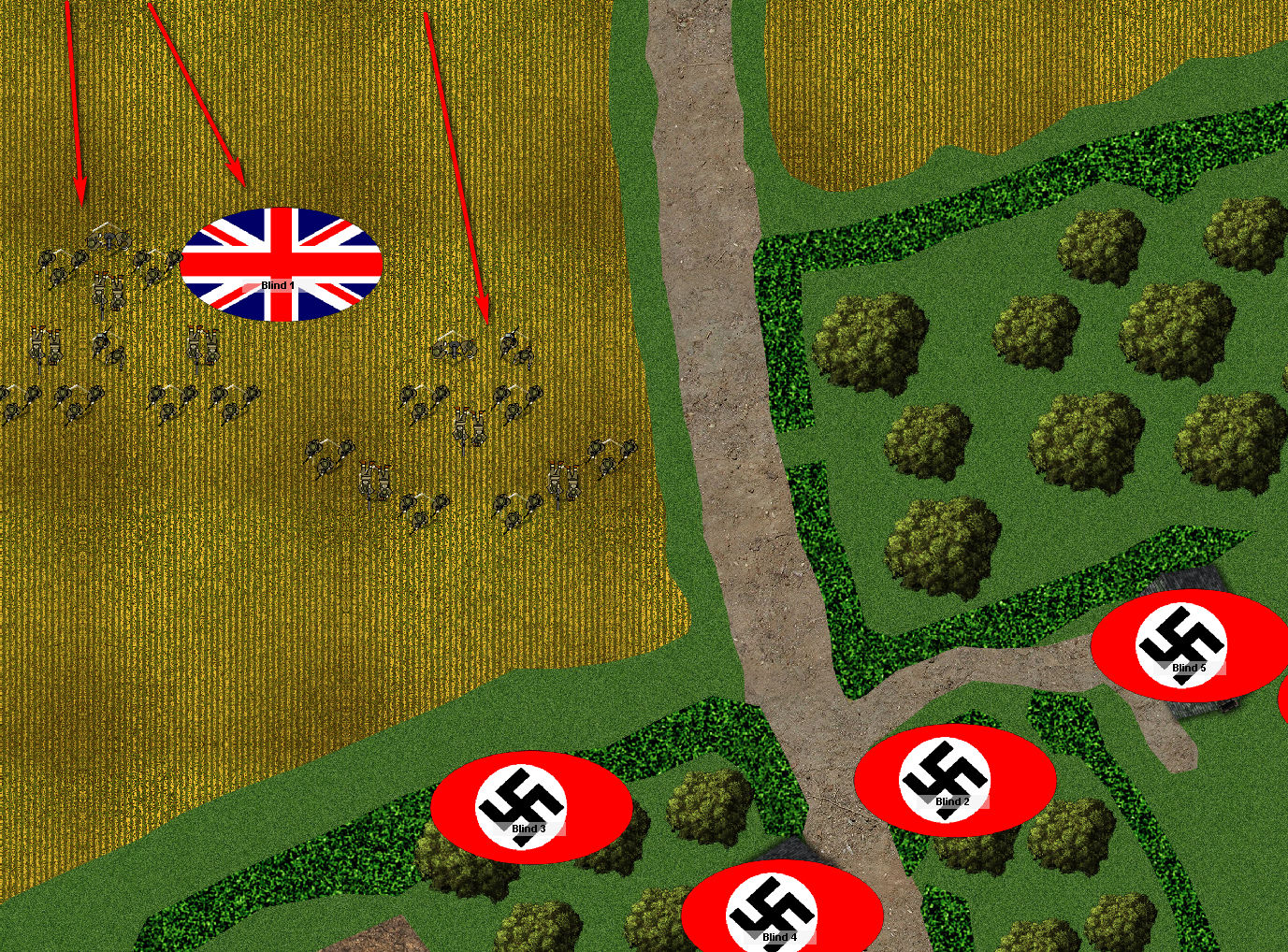 British troops get on the table