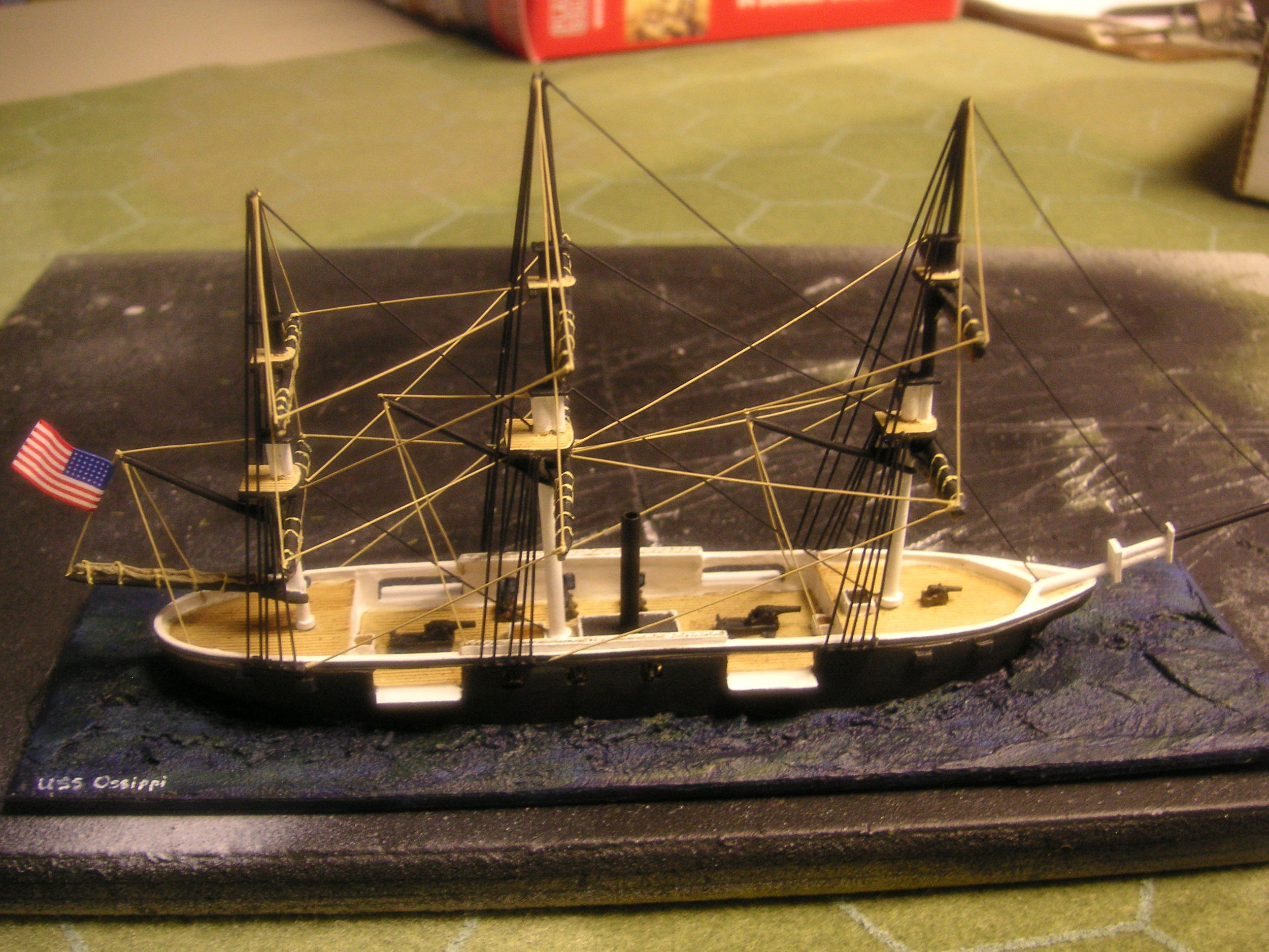 USS Ossippi in 1/600th scale