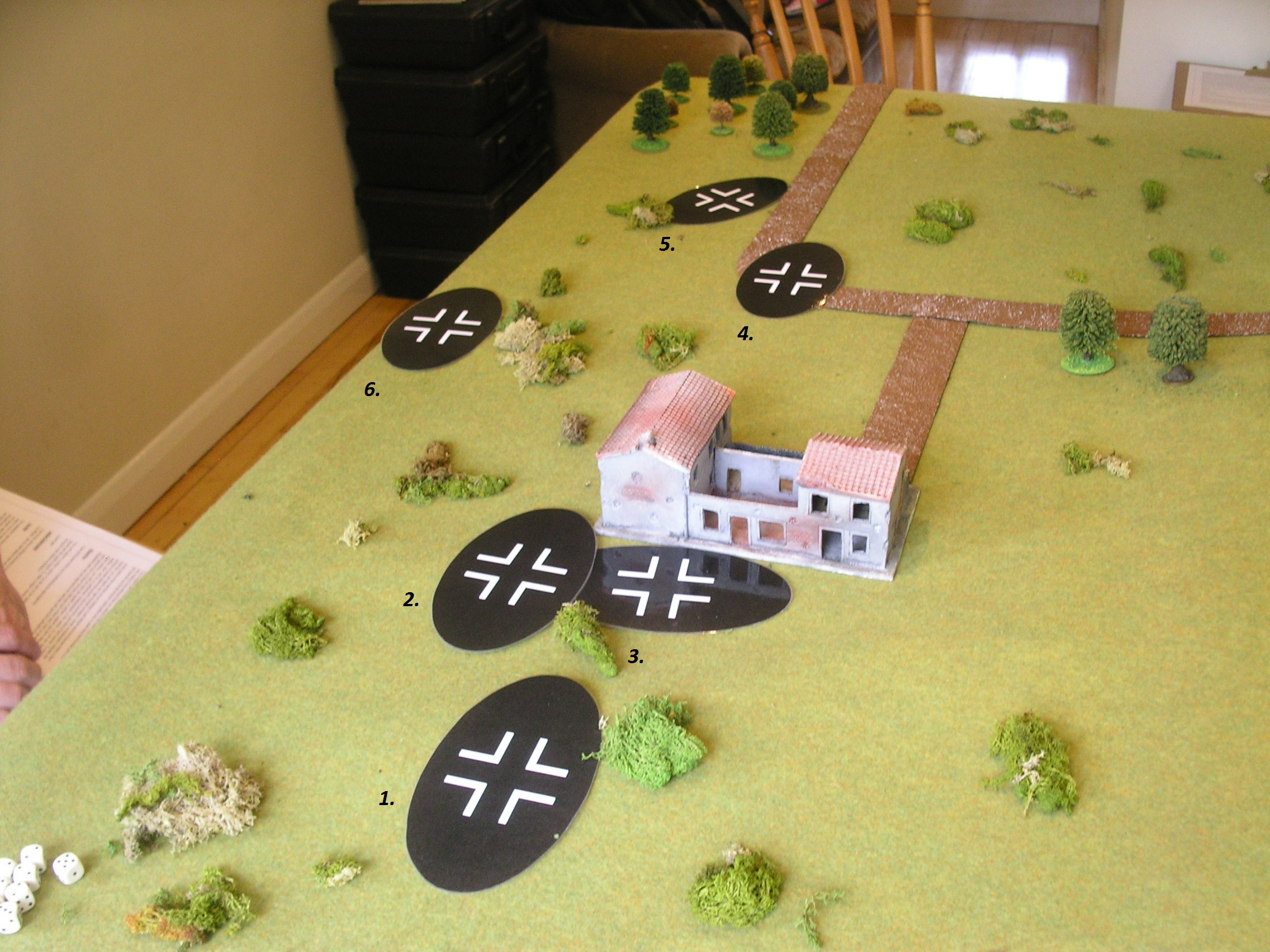 The Initial German Advance