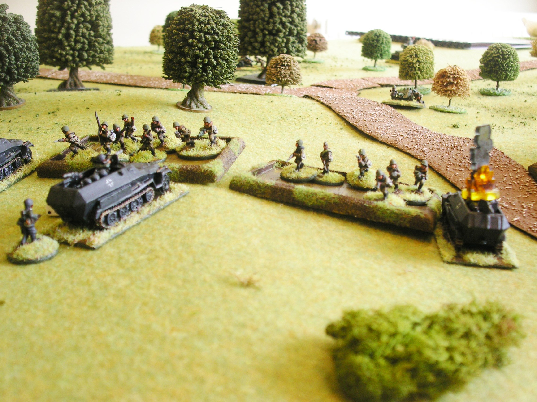 And the Germans are down half their infantry!