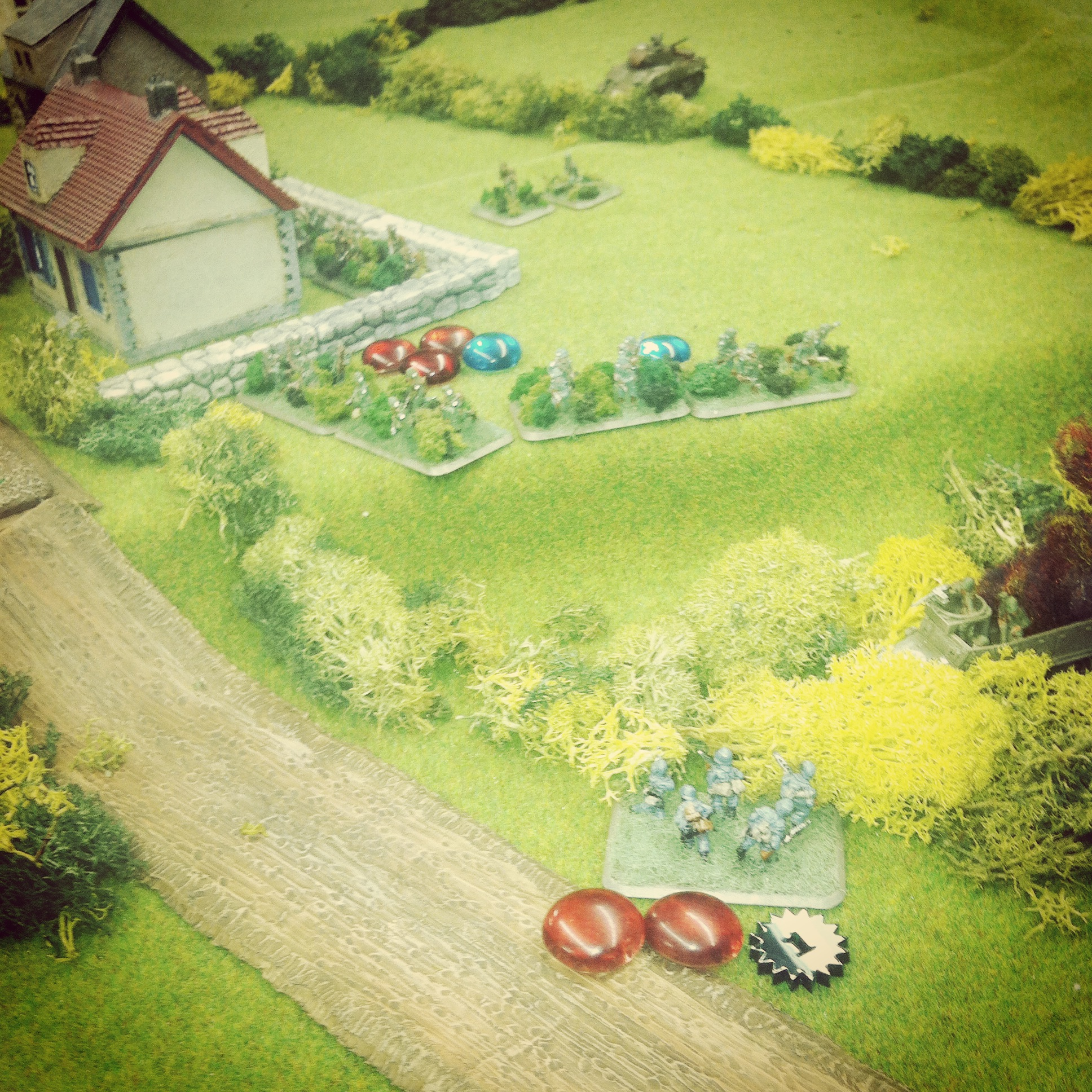 Germans attempt to hold the flank at the objective