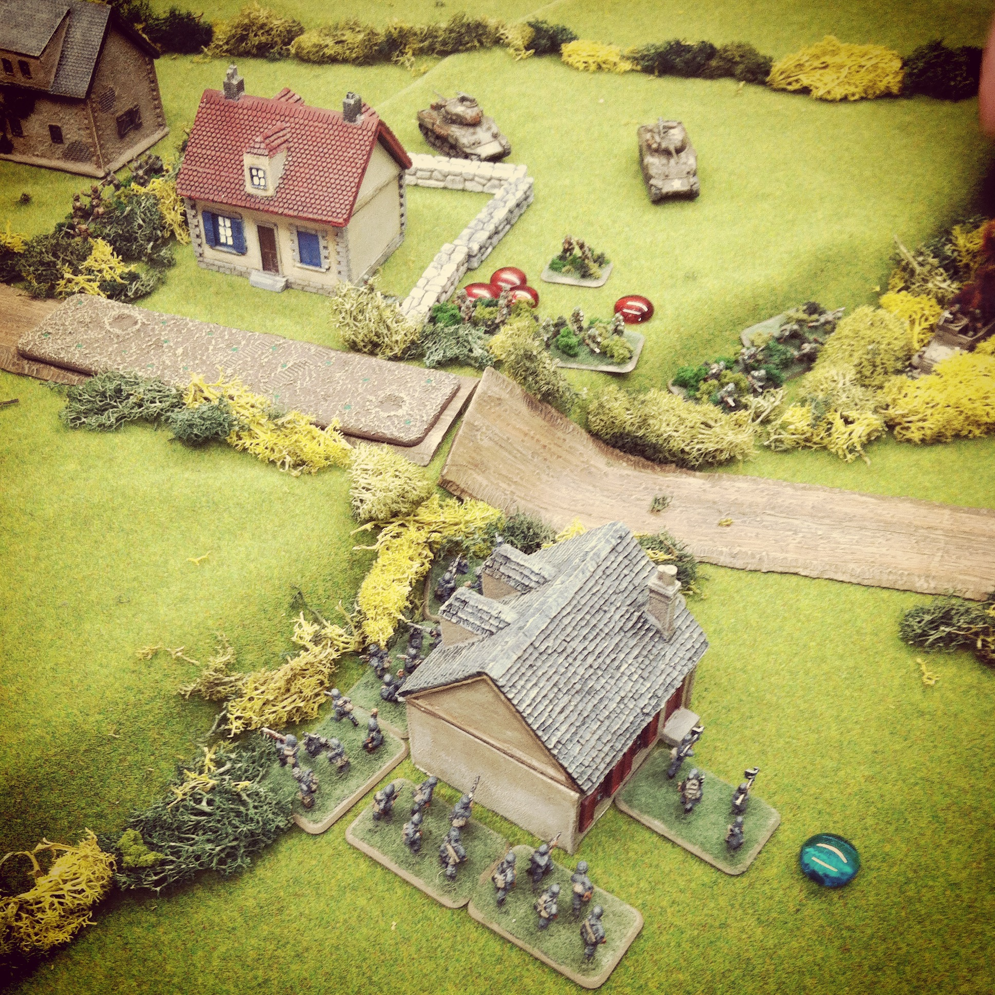 The last platoon of German defenders get spotted at the second objective