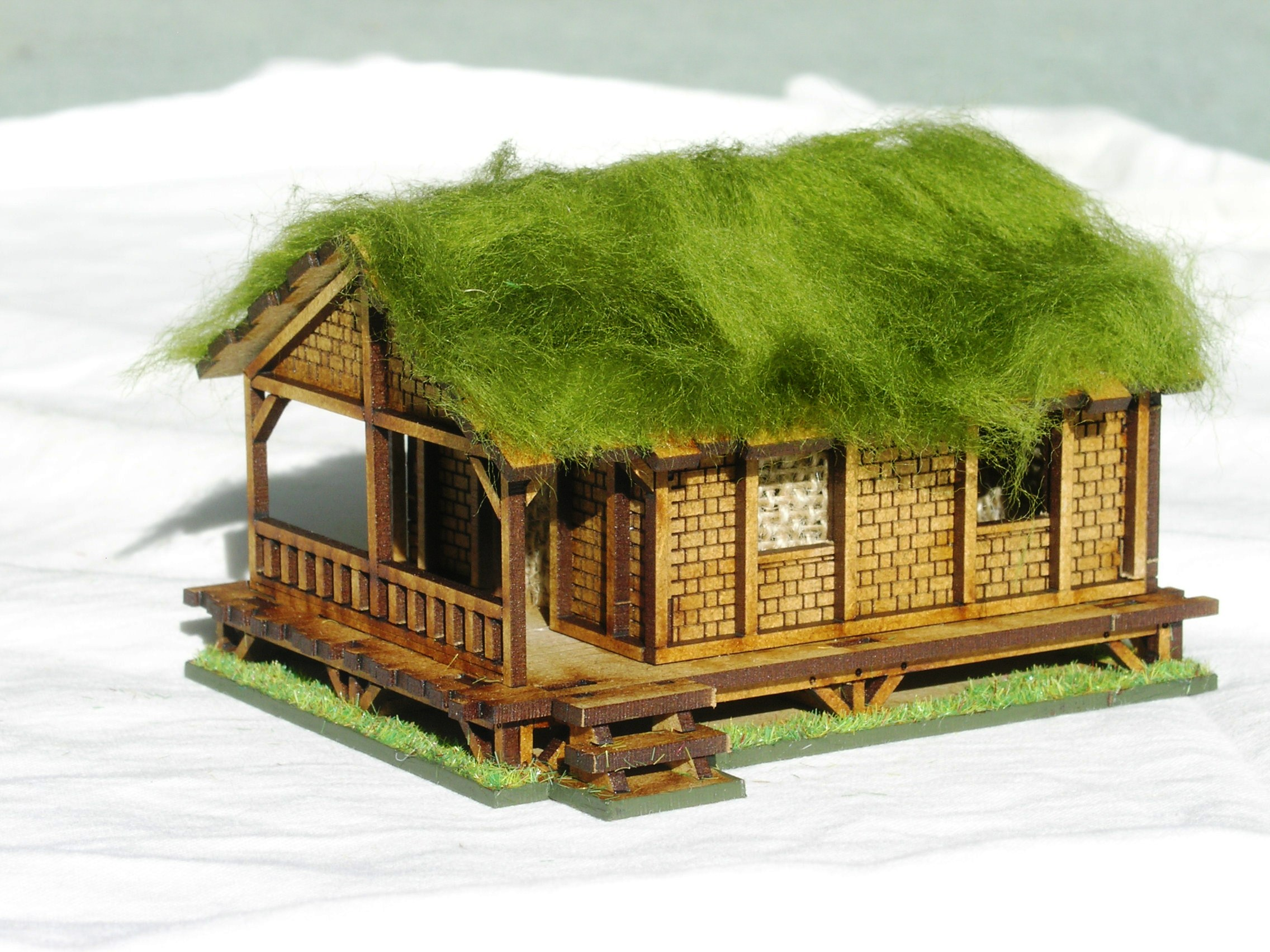 Building Three: Woven Palm Style Village House - Low