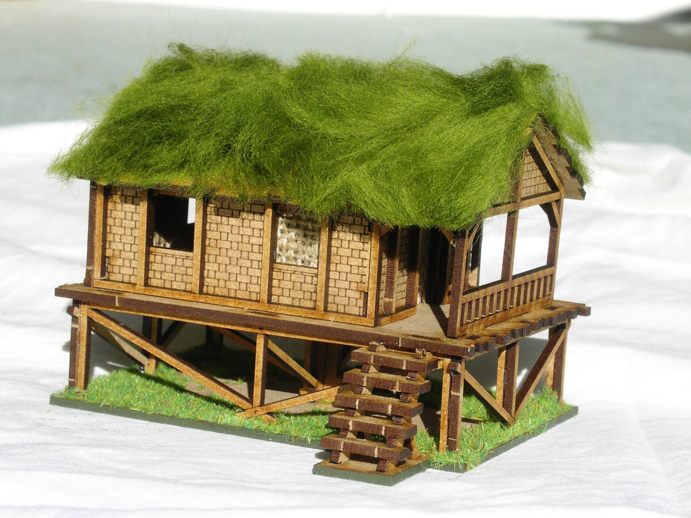 Building Four: Woven Palm Style Village House