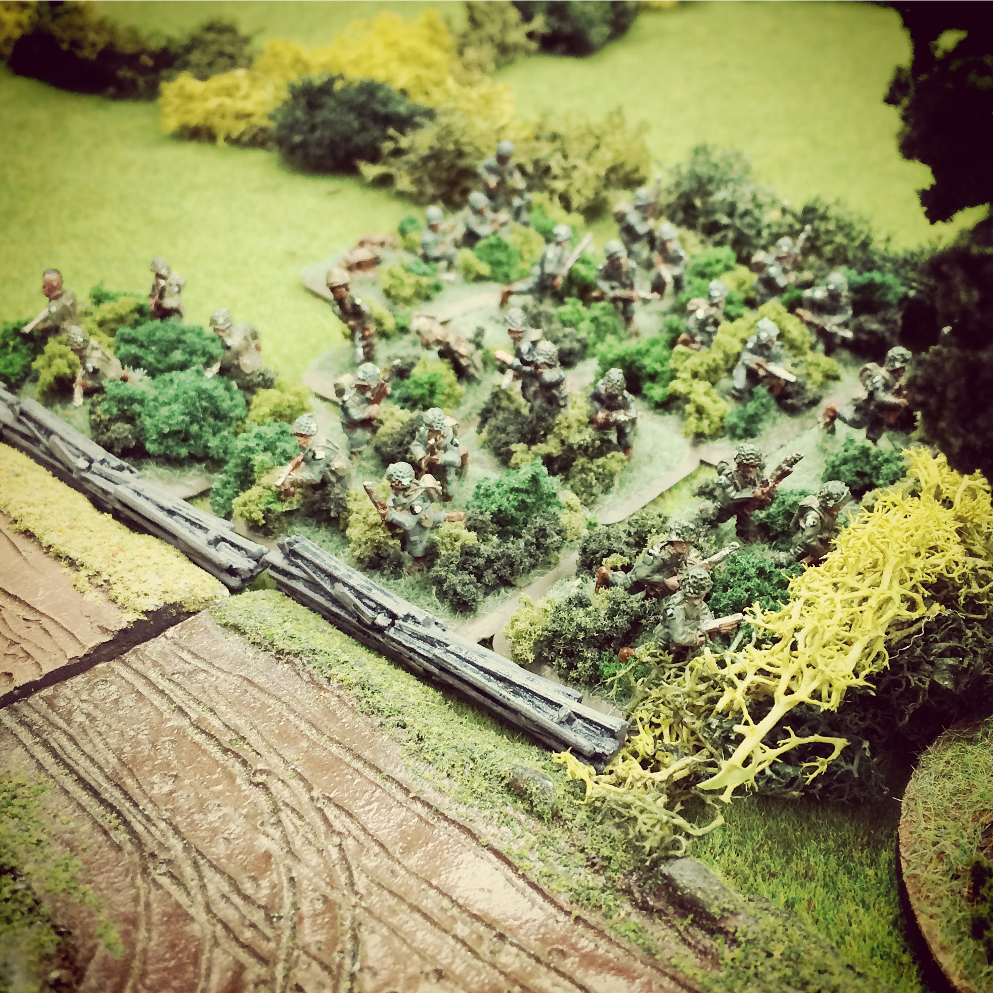 The first US forces are revealed beyond a wood north of Cabourg