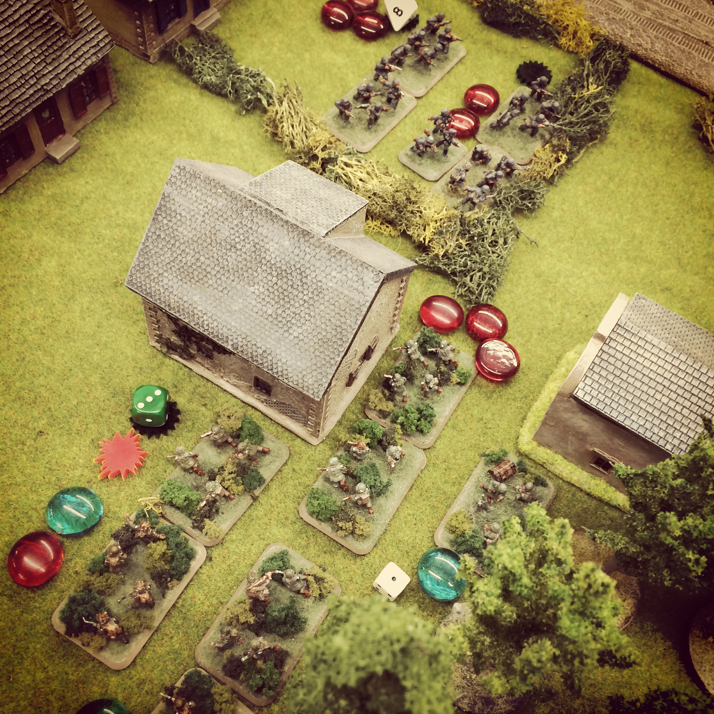 Americans move to assault the German machine guns at the second barn