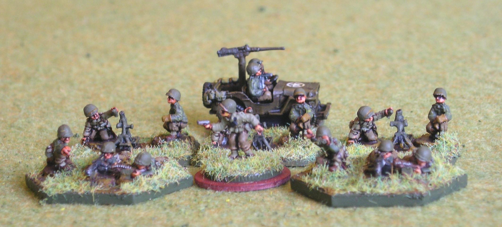 Weapons Platoon(3 x Light Mortar; 2 x MMG)