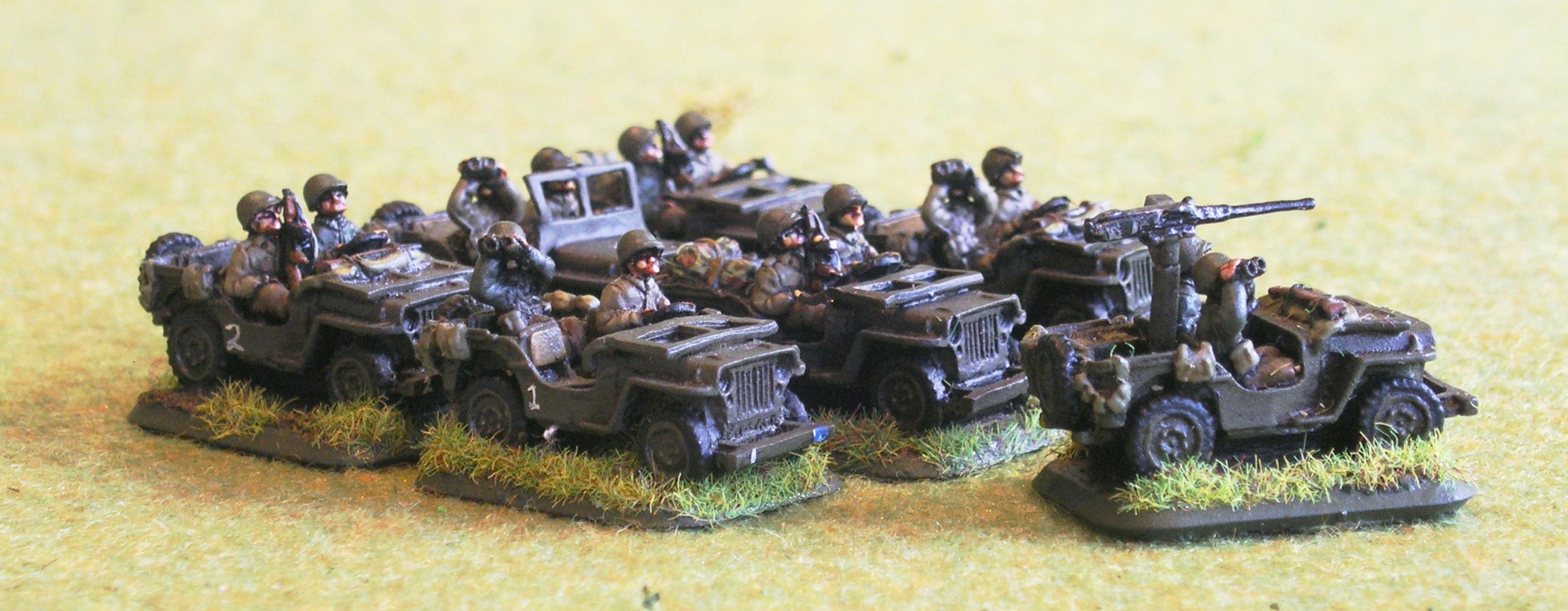 Intelligence & Recon Platoon(seven jeeps)