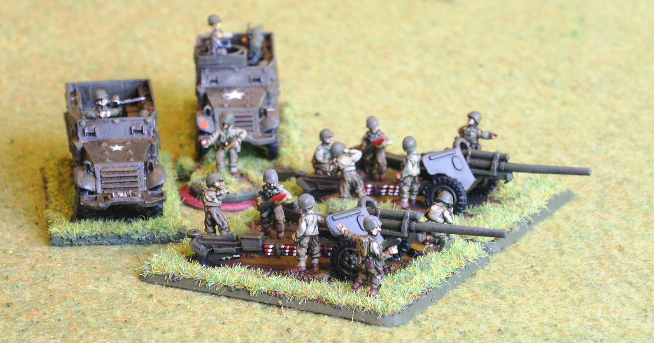 "(understrength) Towed Tank Destroyer Platoon (2/4 x M5 3"" Anti-Tank Guns)"