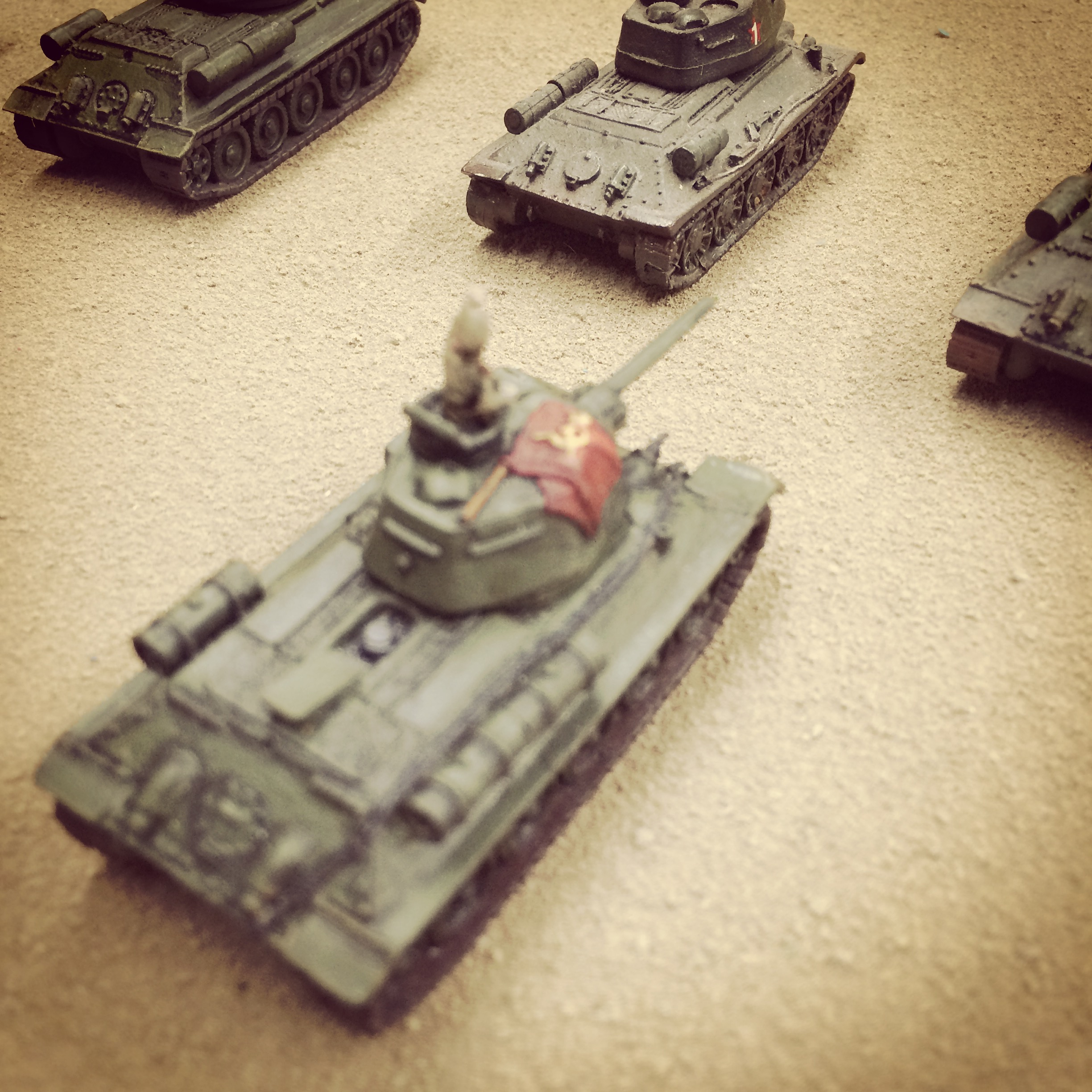 Soviet armor rumbles toward their first objective