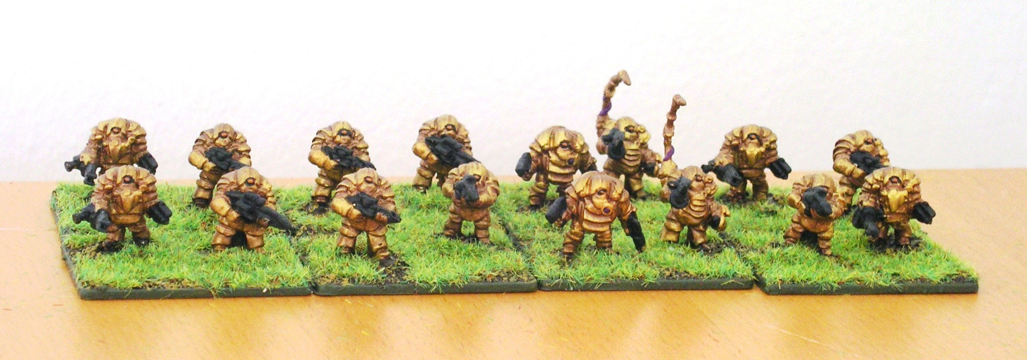 A squad of gitungi veteran infantry from Micropanzer
