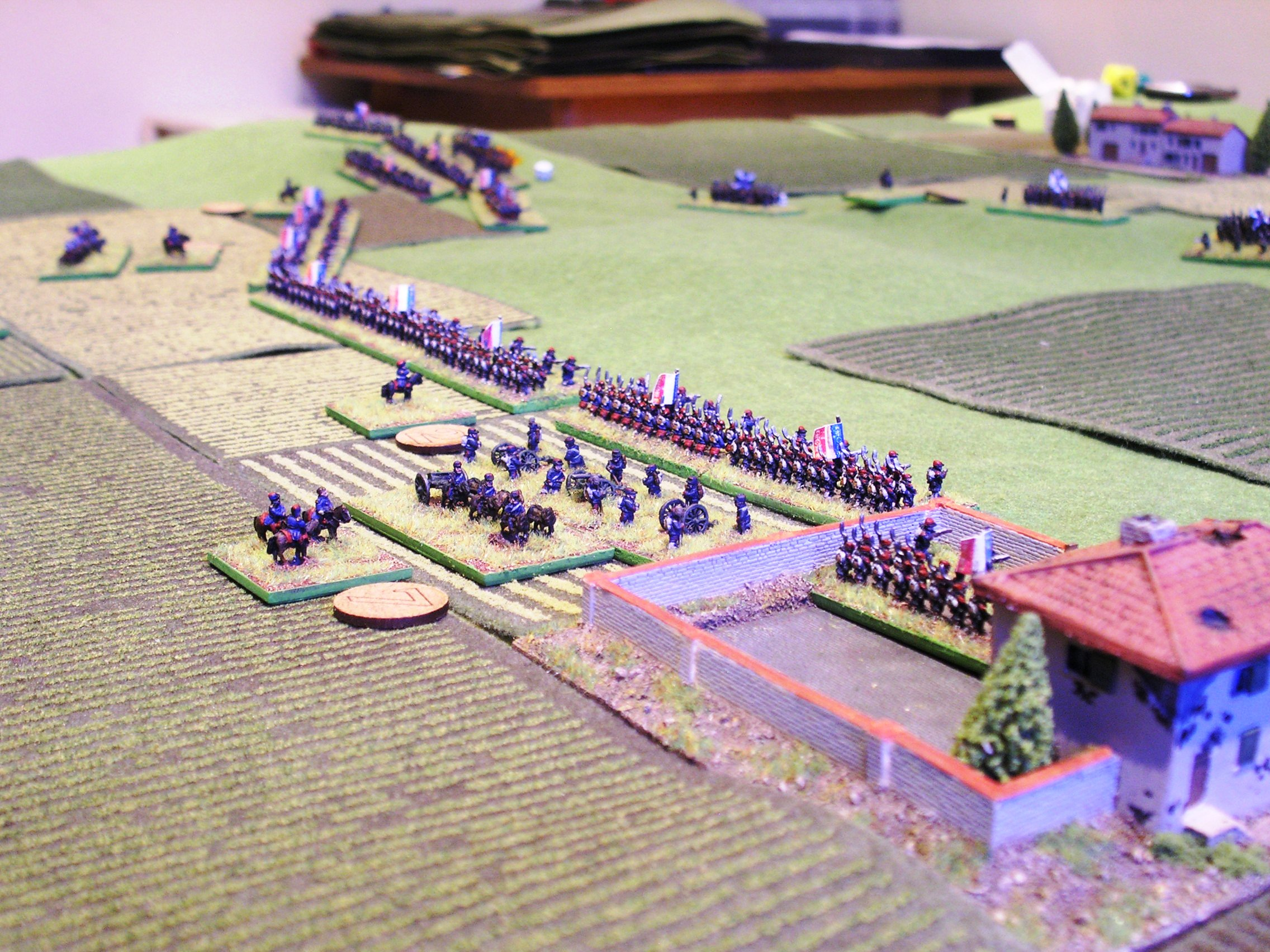 the french centre and left (about-to-be-victorious zouaves in the background)