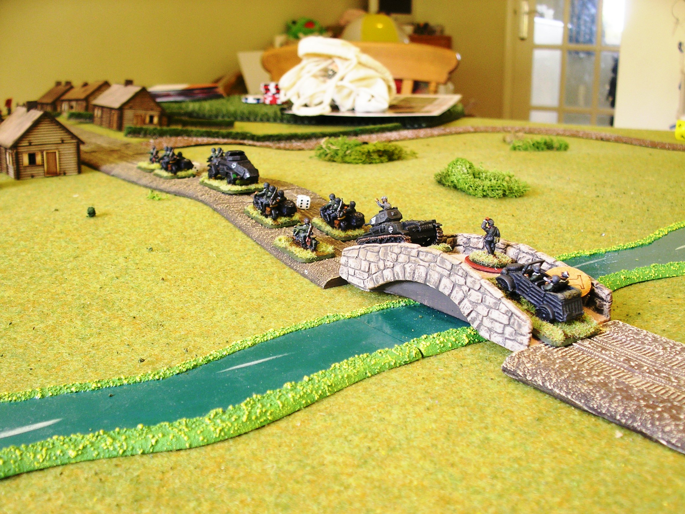 the german recon force heads into urk