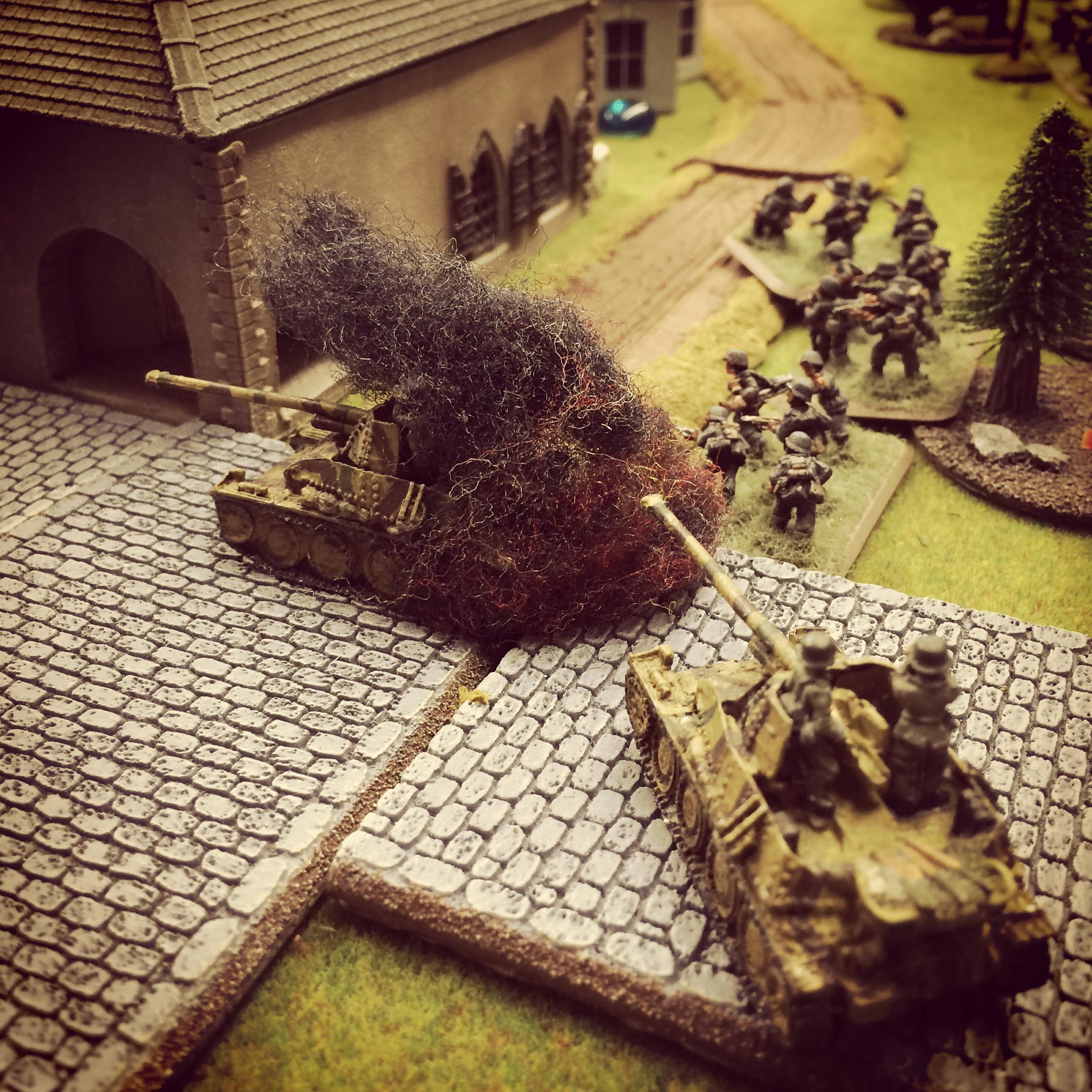 A British PIAT takes out a German gun
