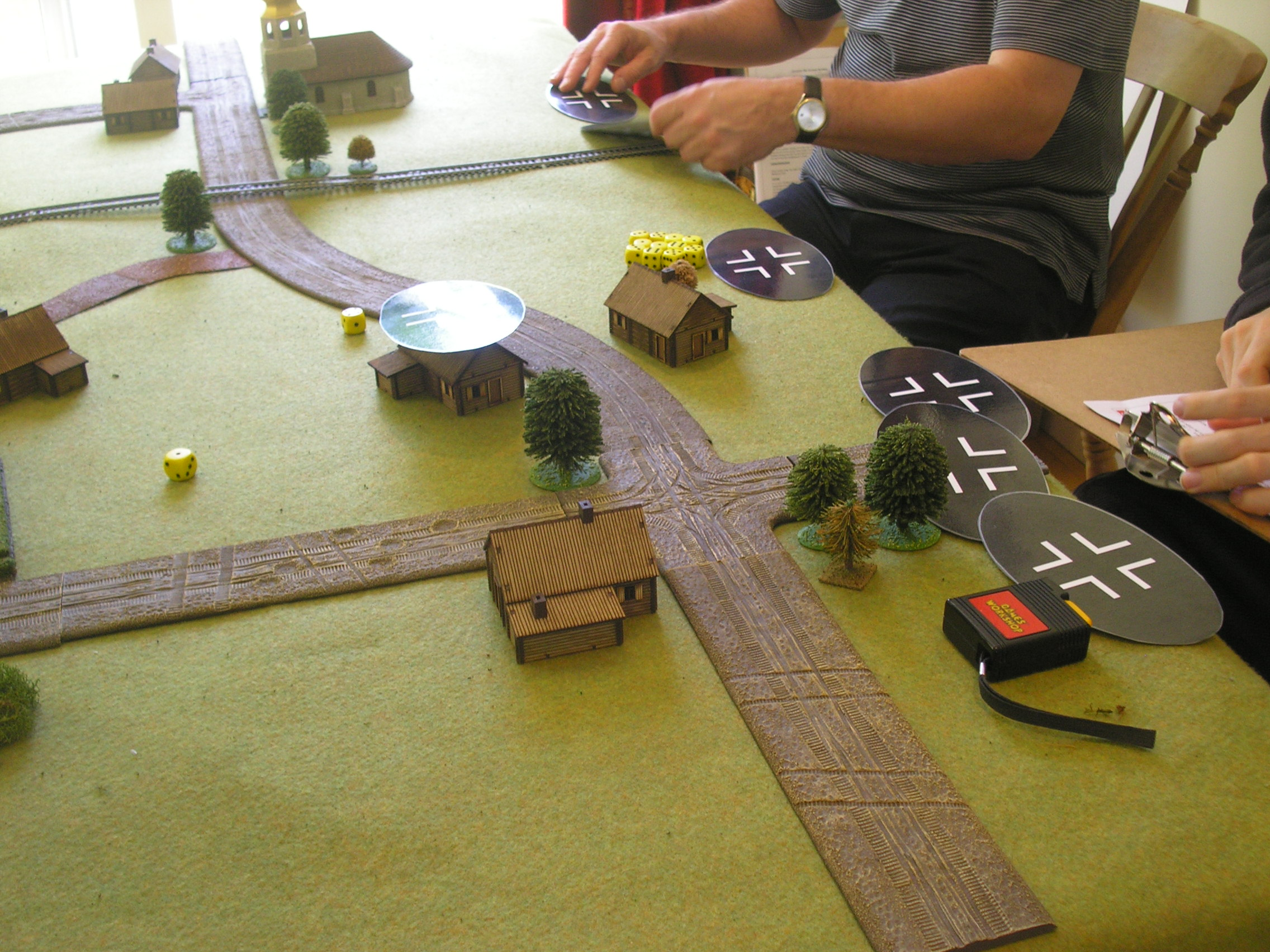 The Germans attack across A broad front