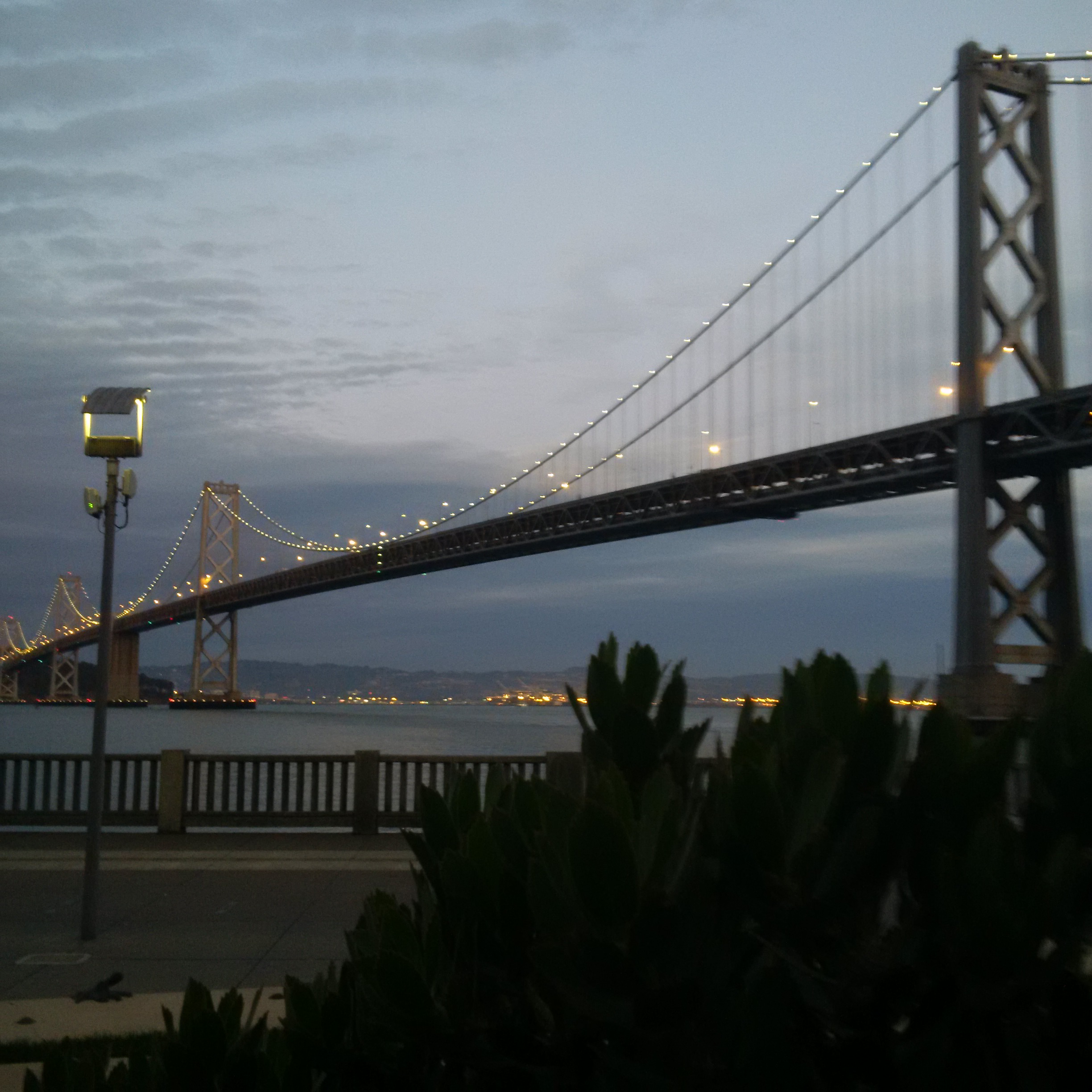 And one of the Bay Bridge at night