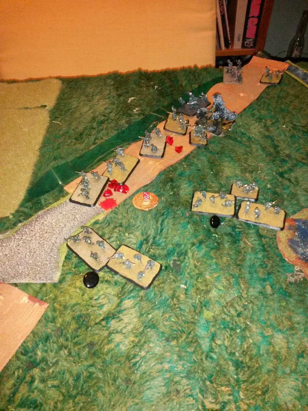 And artillery joins in. At this point, it looks very bad for Germans. But looks deceive, as everything is going as planned.