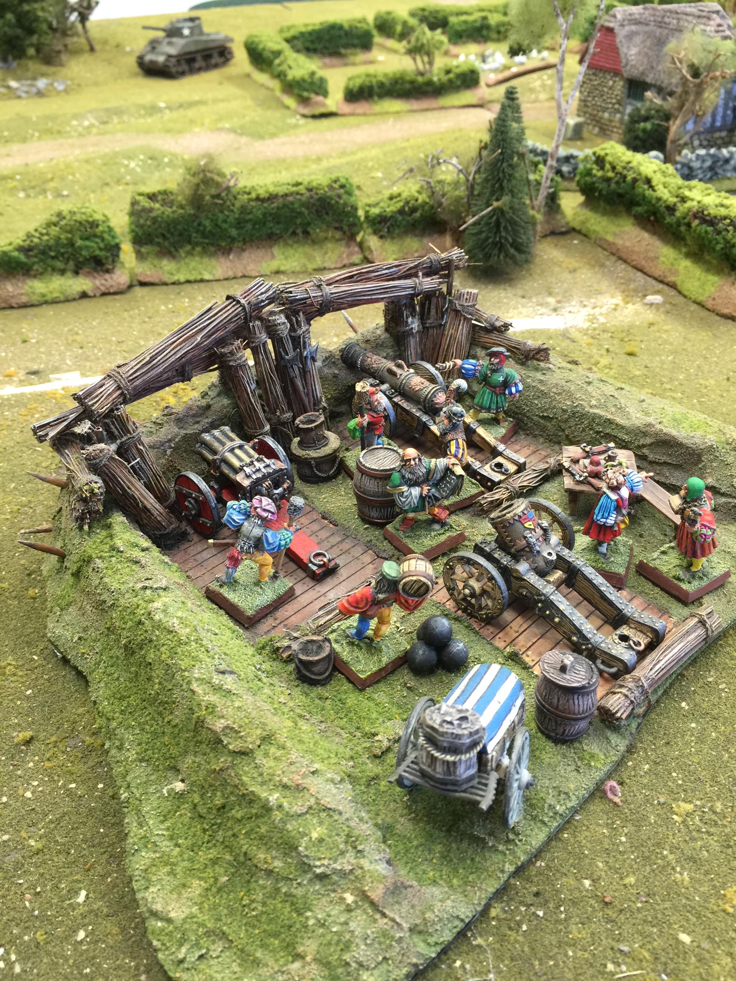 Renaissance Gun Emplacement for French Italian Wars