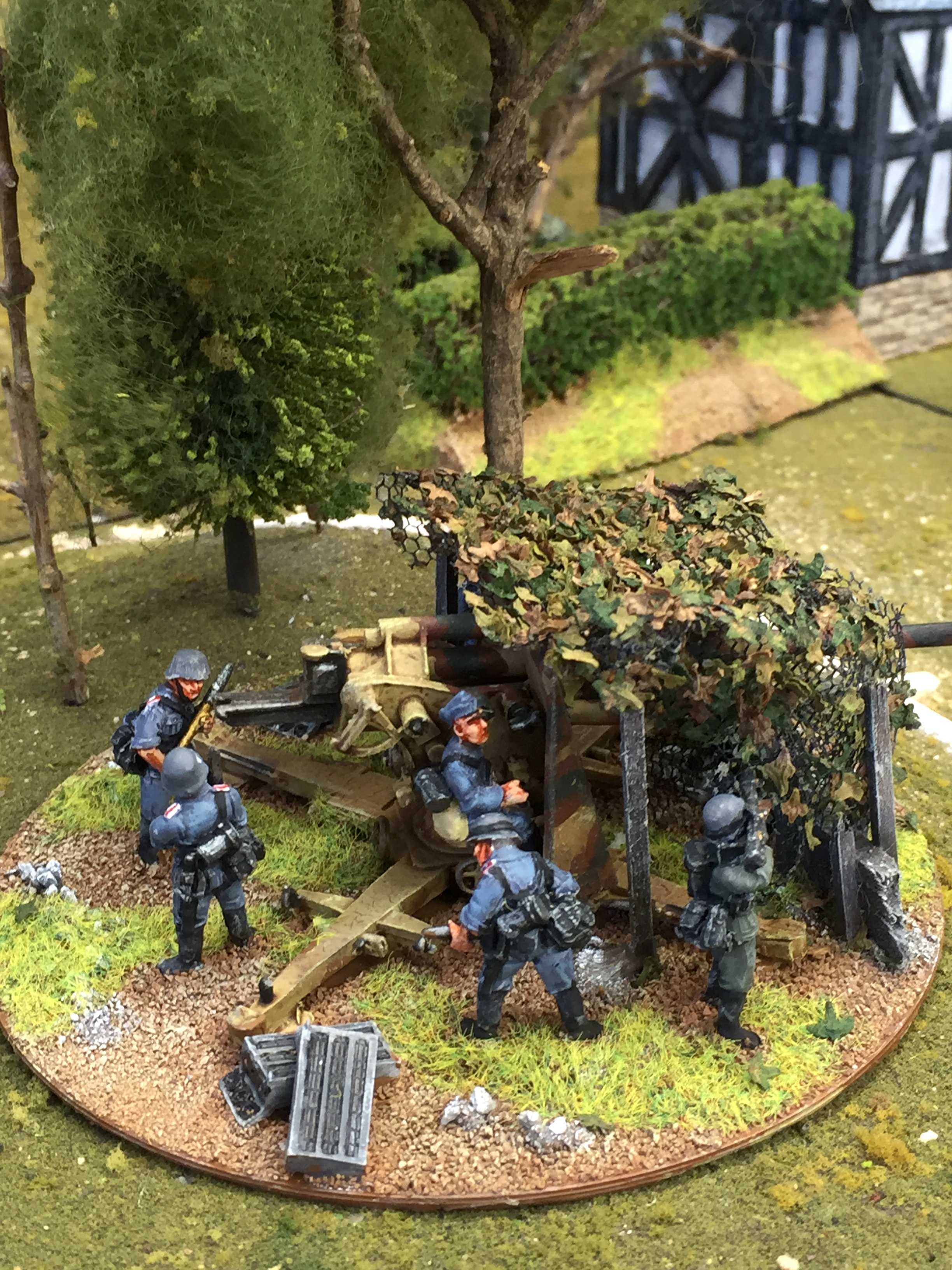 """Warlord 28mm 88mm AT """"behind cover"""""""