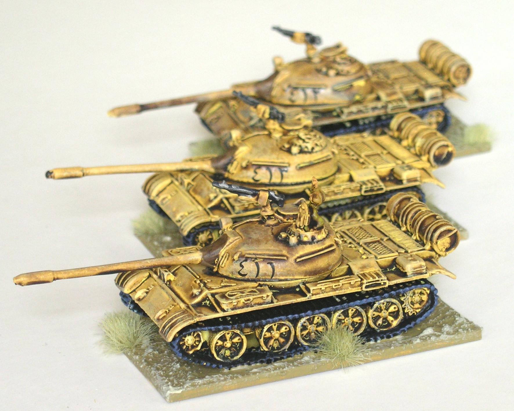 1st Platoon: 3 x T-55