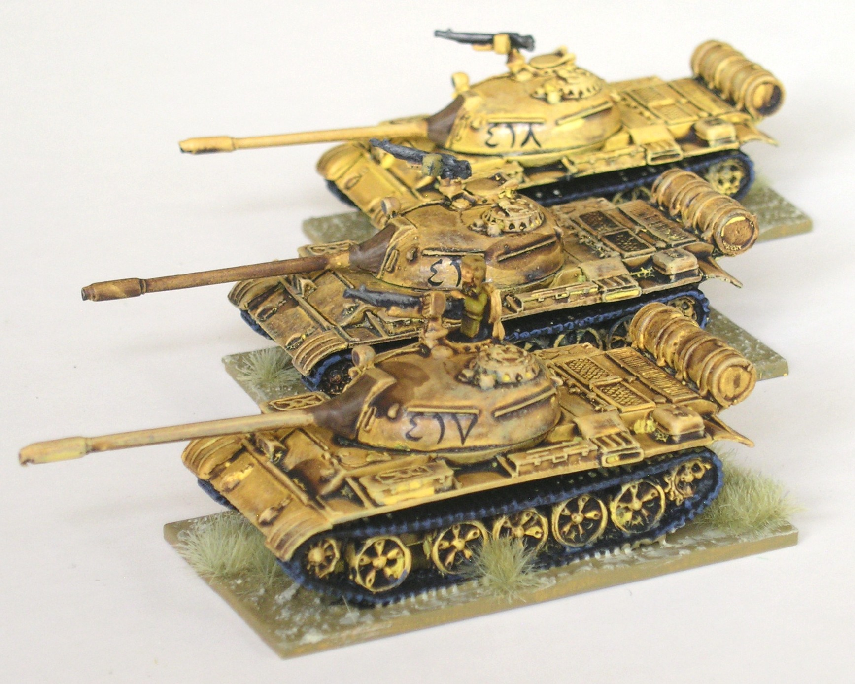 2nd Platoon: 3 x T-55