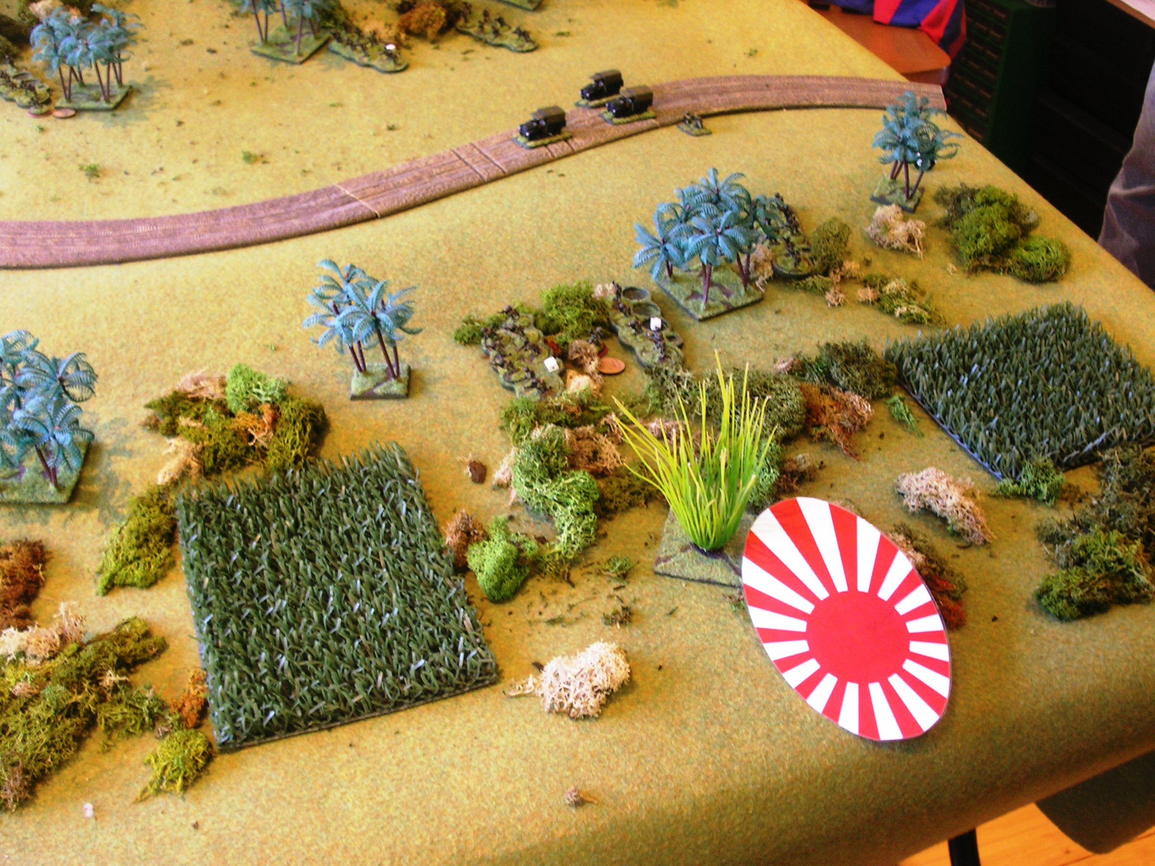 japanese platoon under a blind outflanks british firing line