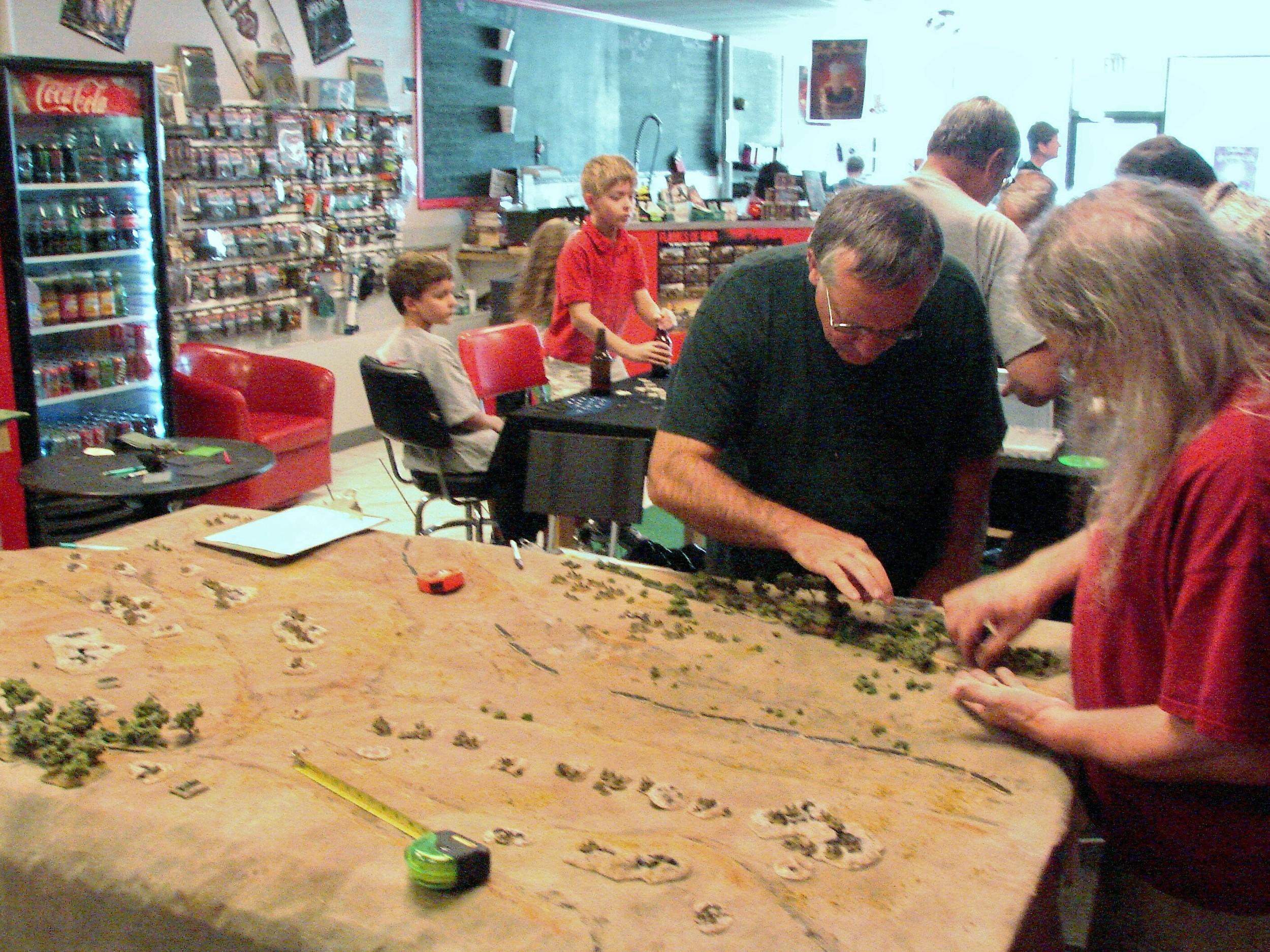 Germans planning their attack