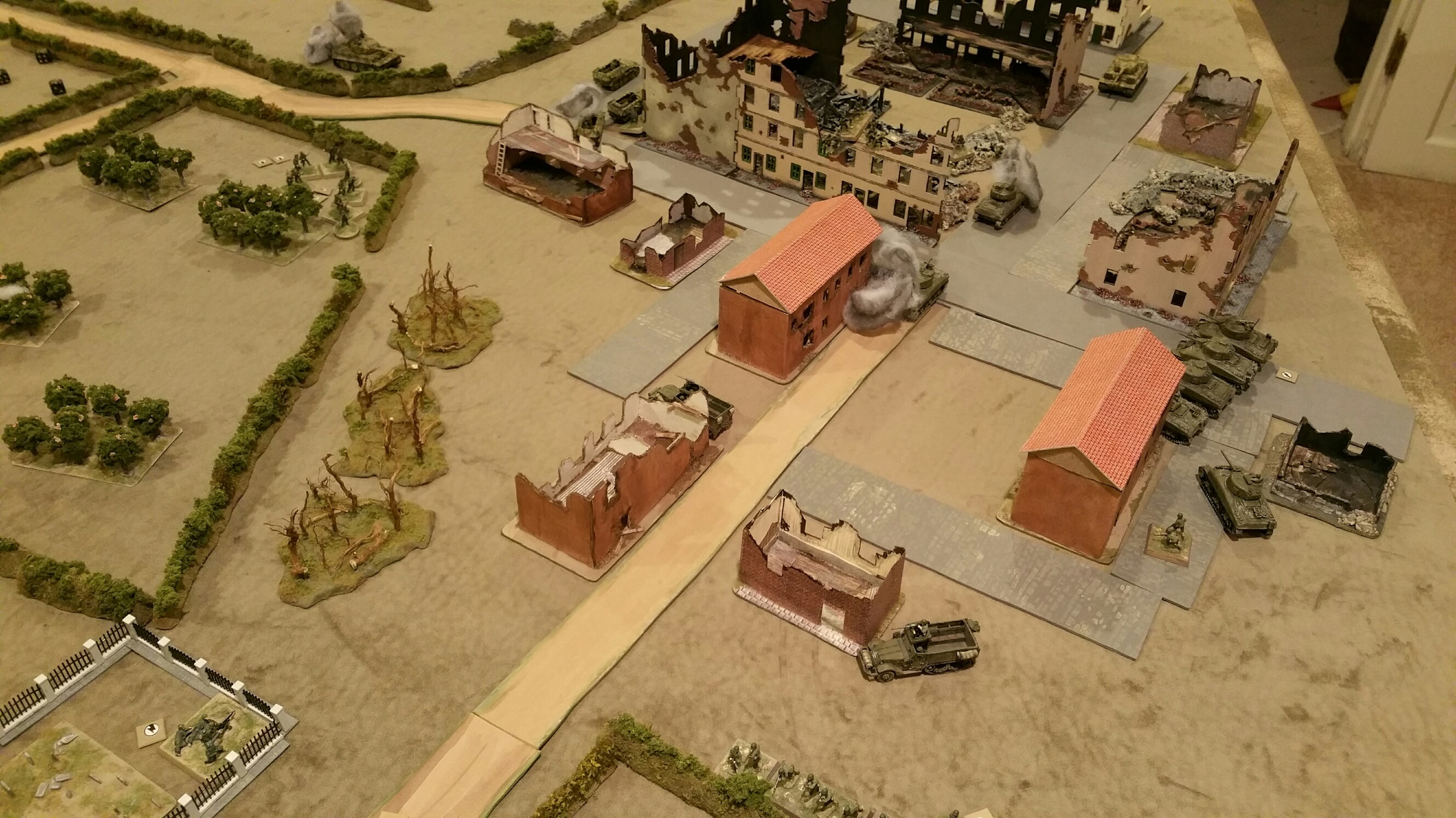 Overview of the board from the left rear of the US position.