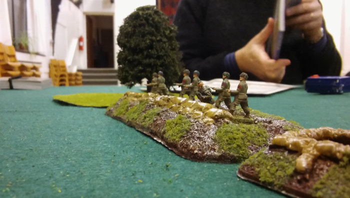 Pour it on boys! My guys in the trenches let themselves known to the encroaching Germans.