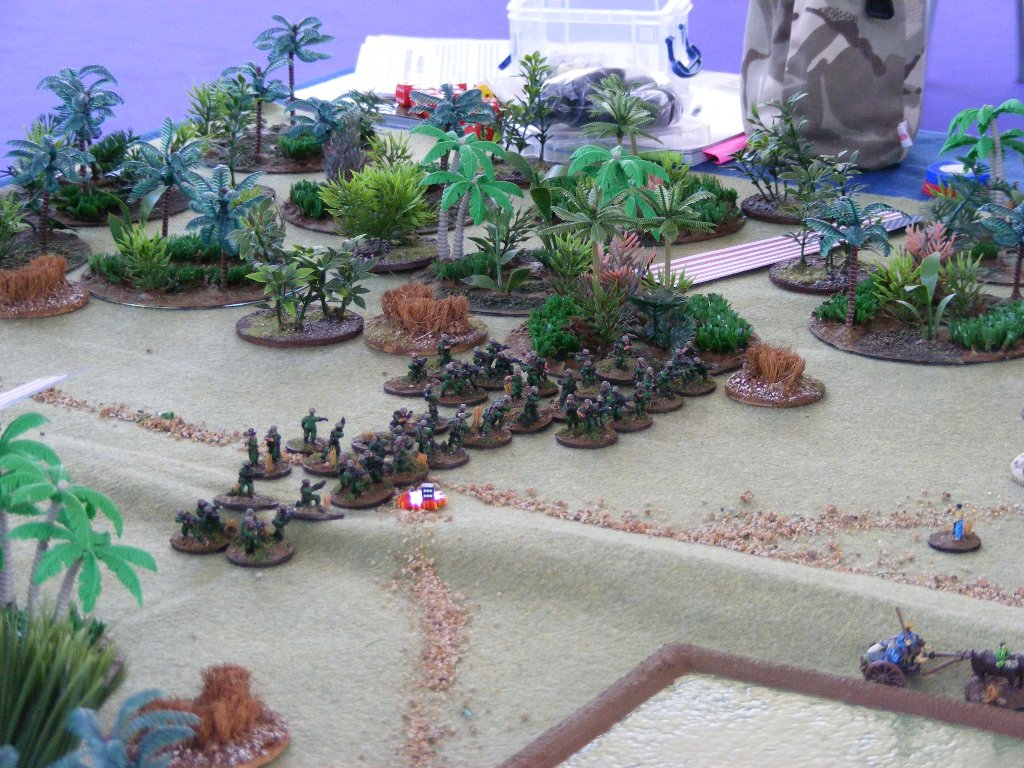 You decide: a platoon bravely advancing, or a target-rich environment for a sniper?