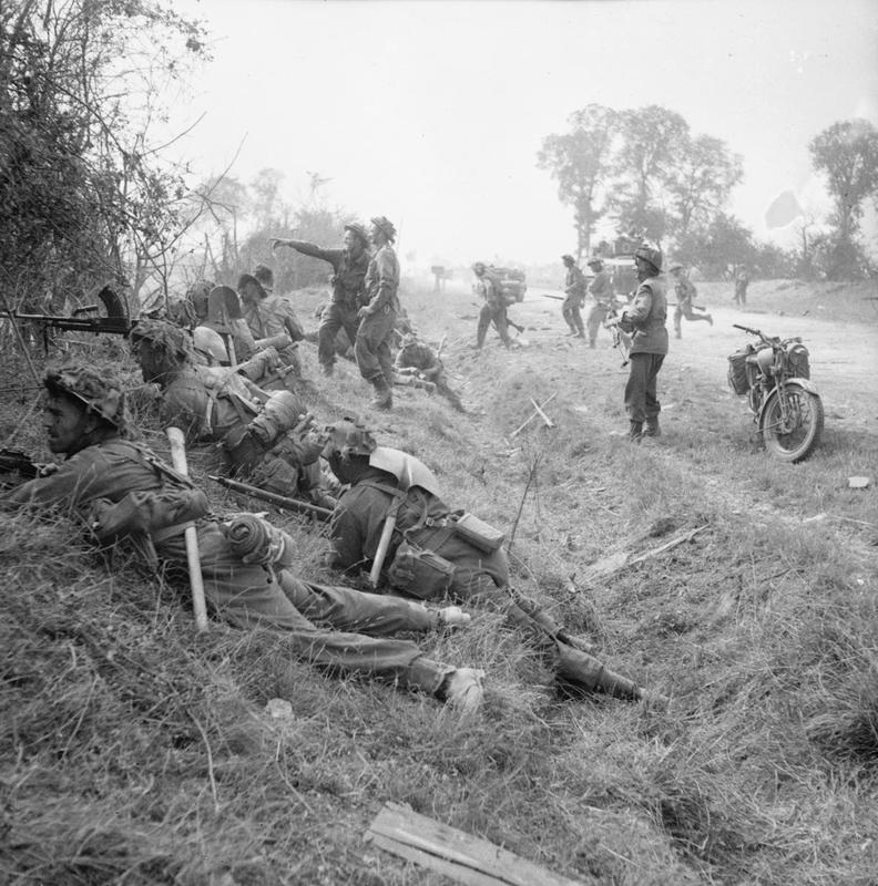 1st Welsh Guards - pictured during the earlier Goodwood operation in July 1944