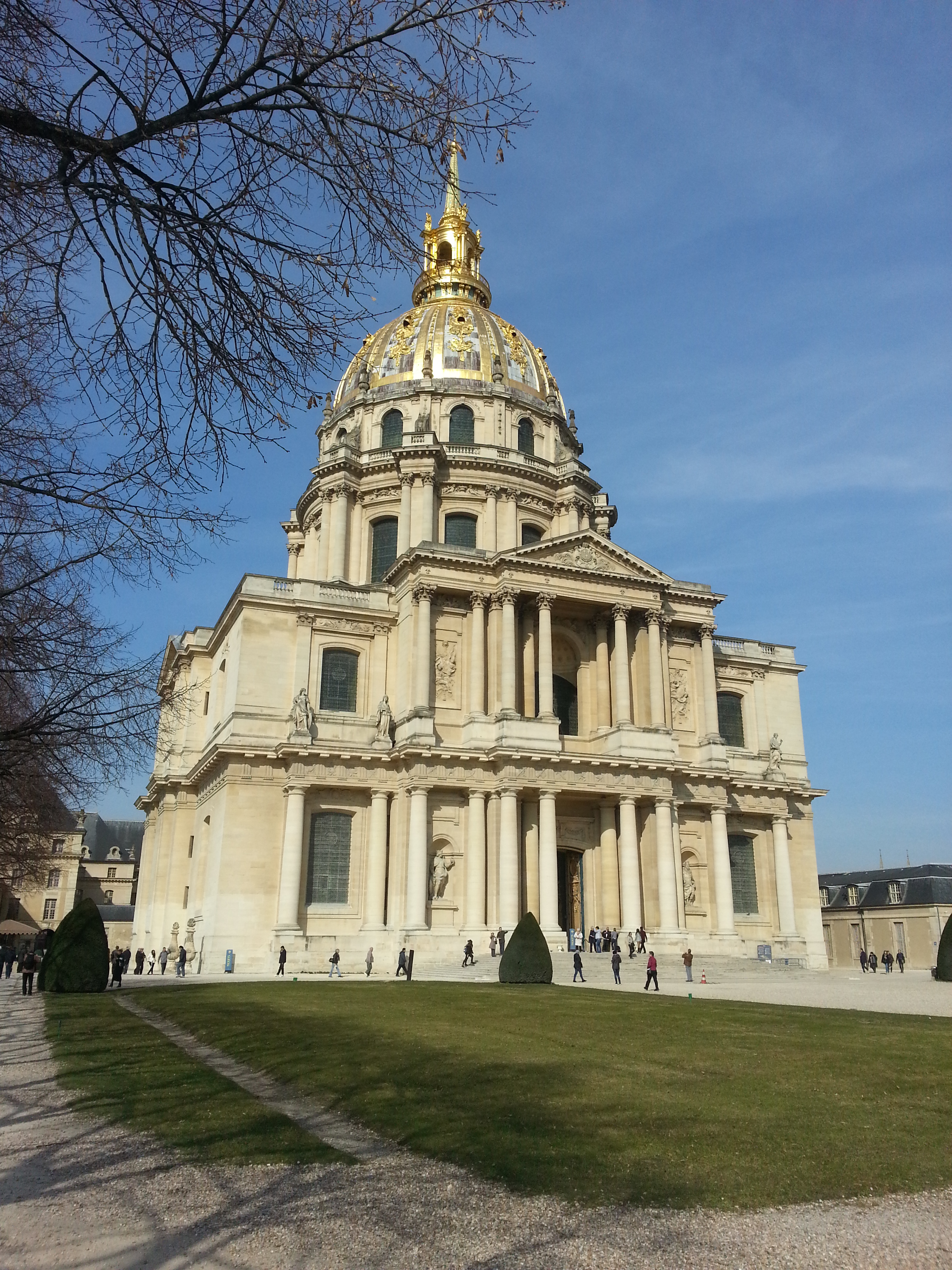 The Dome des Invalides (above) containing Napoleon's tomb (right)