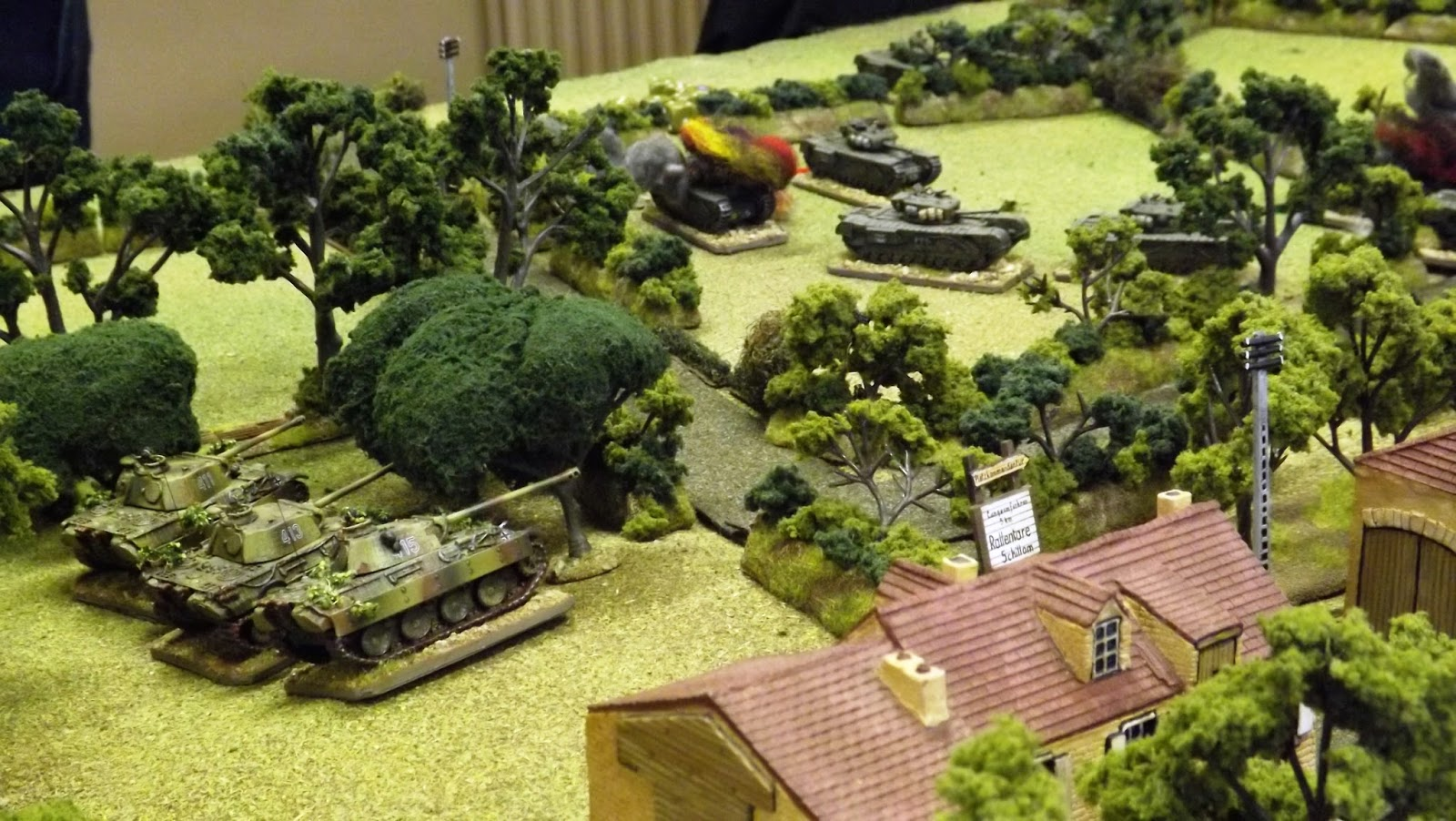 As if things couldn't get worse! The second Panther platoon move in on the Scots Guards flank