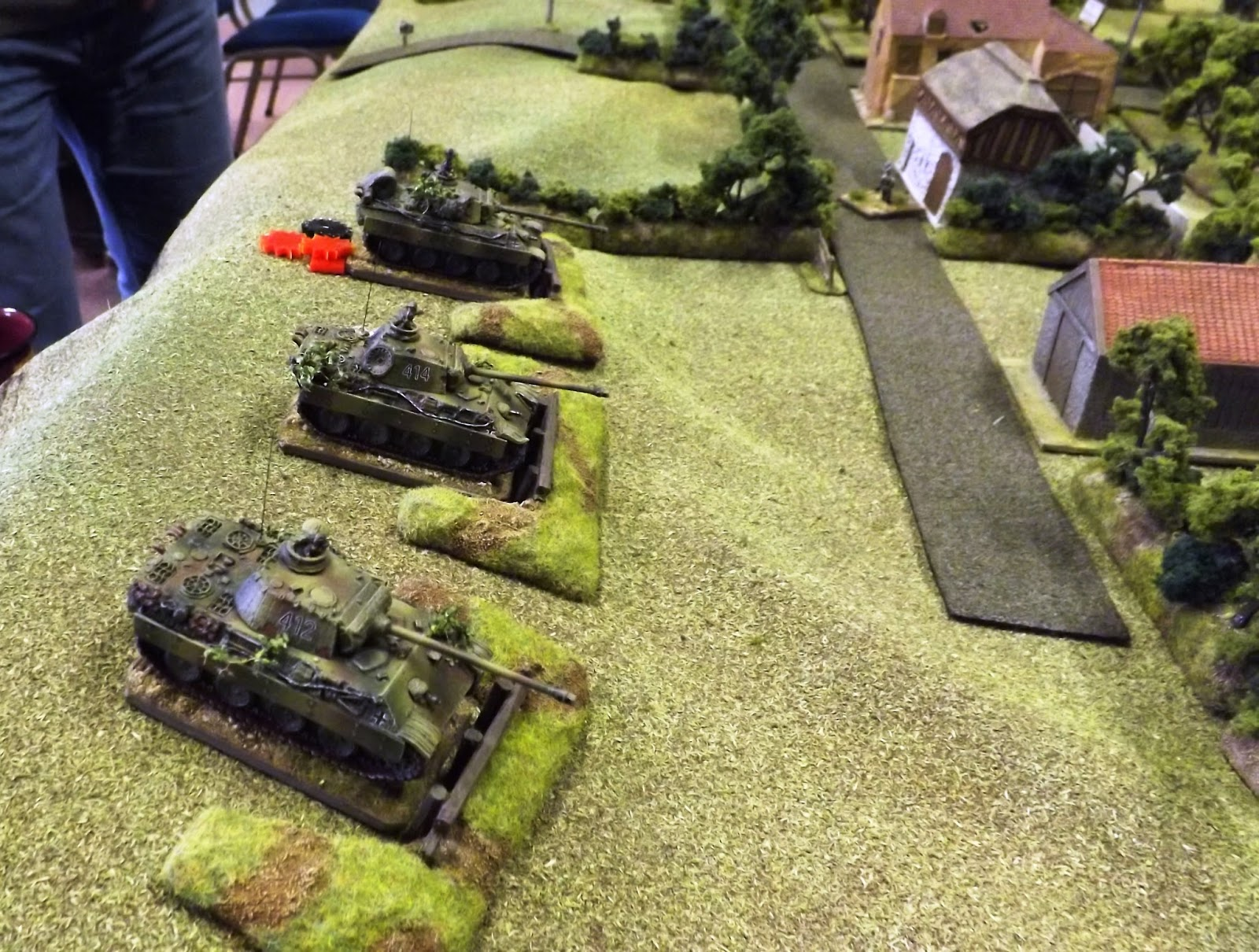The dug in Panther platoon provided valuable support to their infantry in the farm area