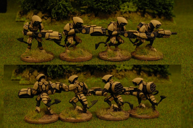 Soriog infantry with energy rifles