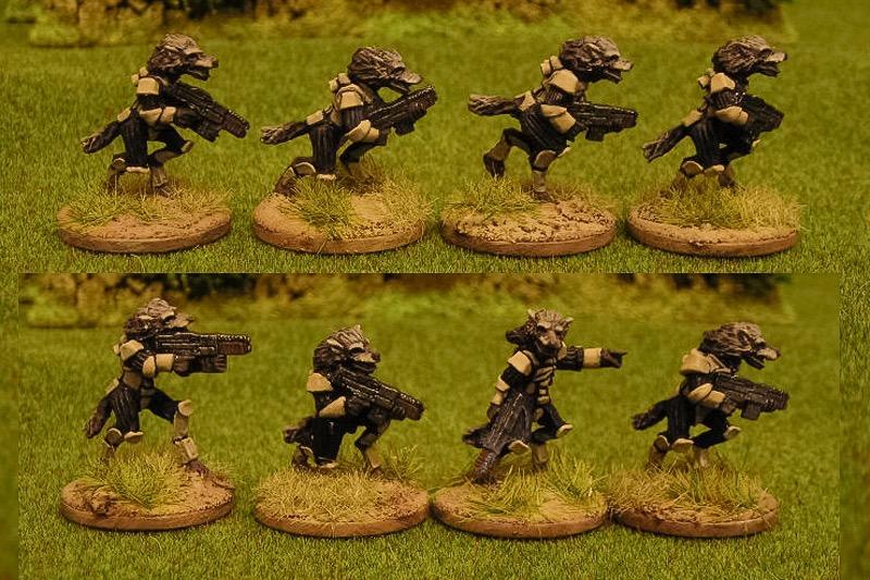 Raug infantry with autoguns