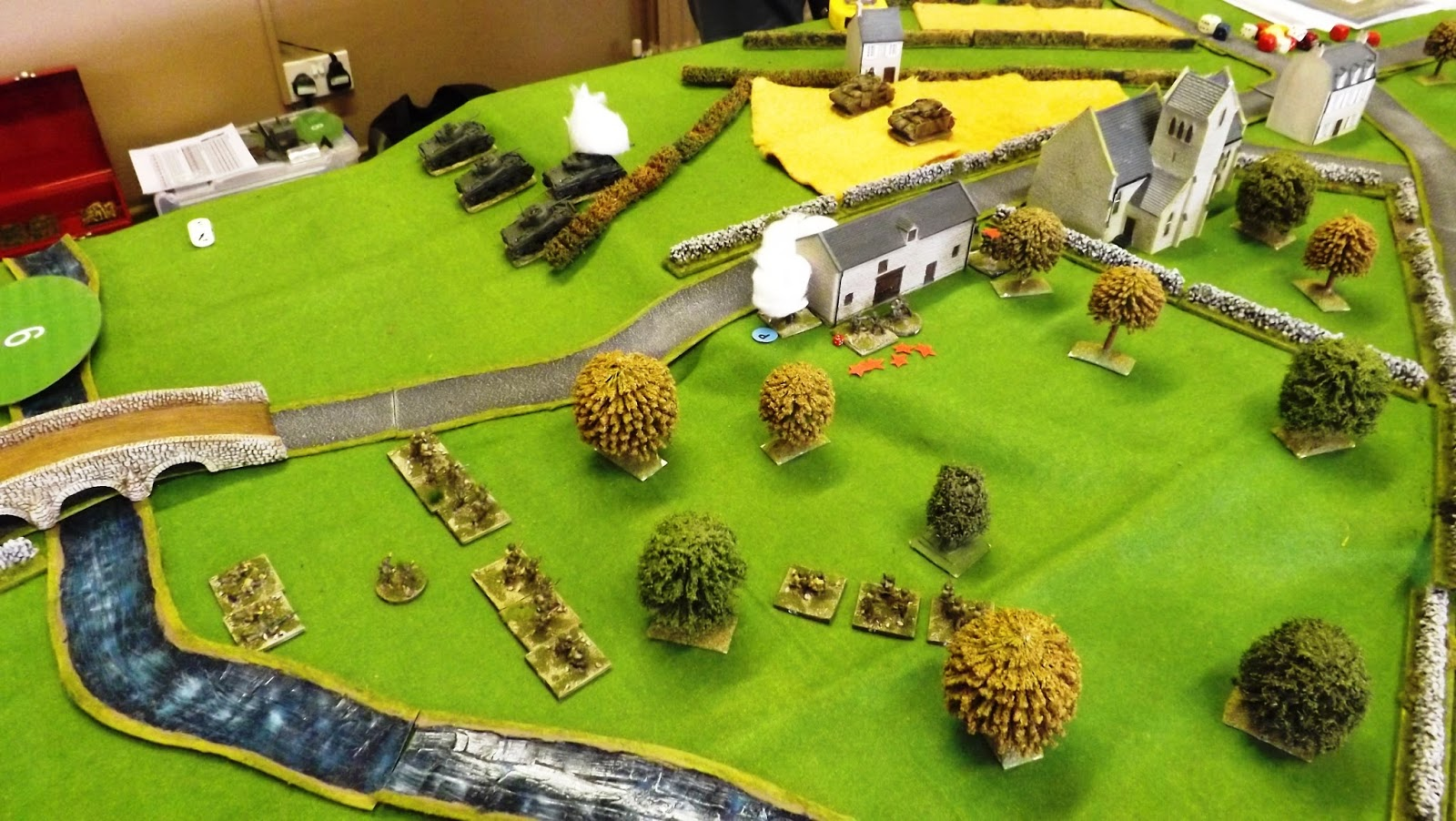 With the German infantry pinned and smoked off the Canadians prepare to assault